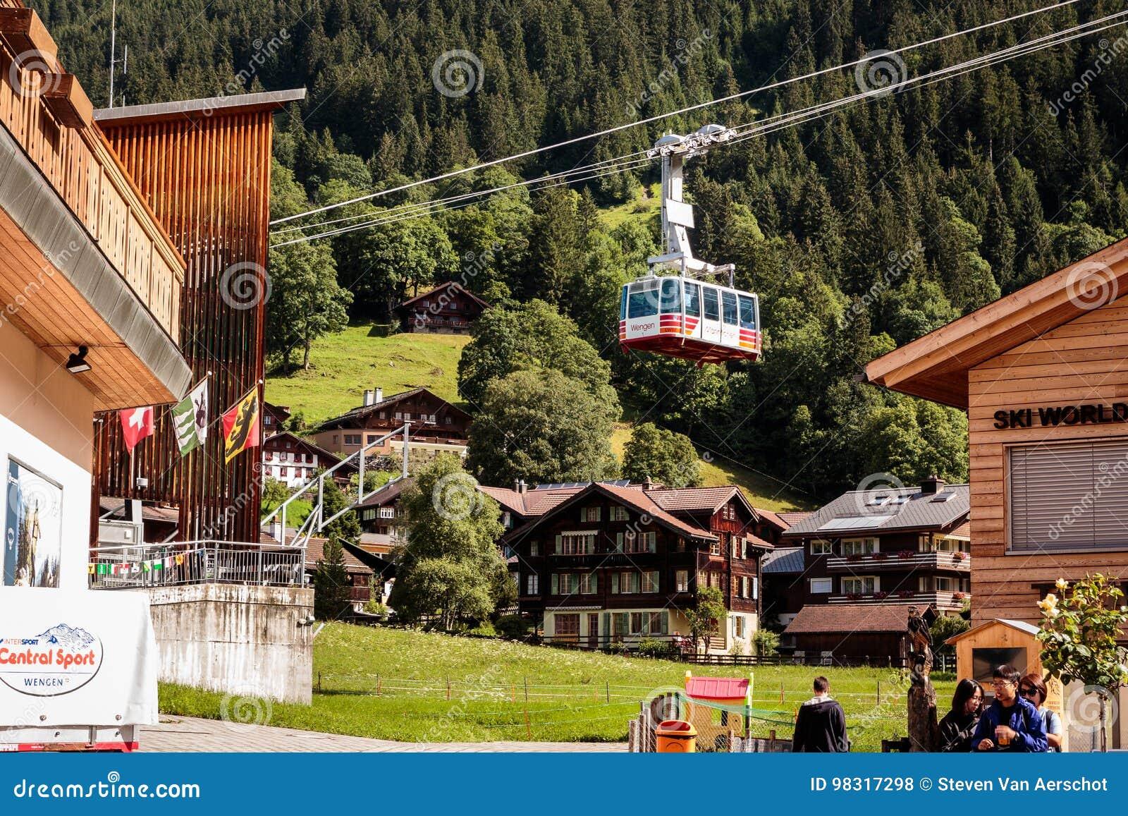 Cableway Wengen Mannlichen, Schweiz