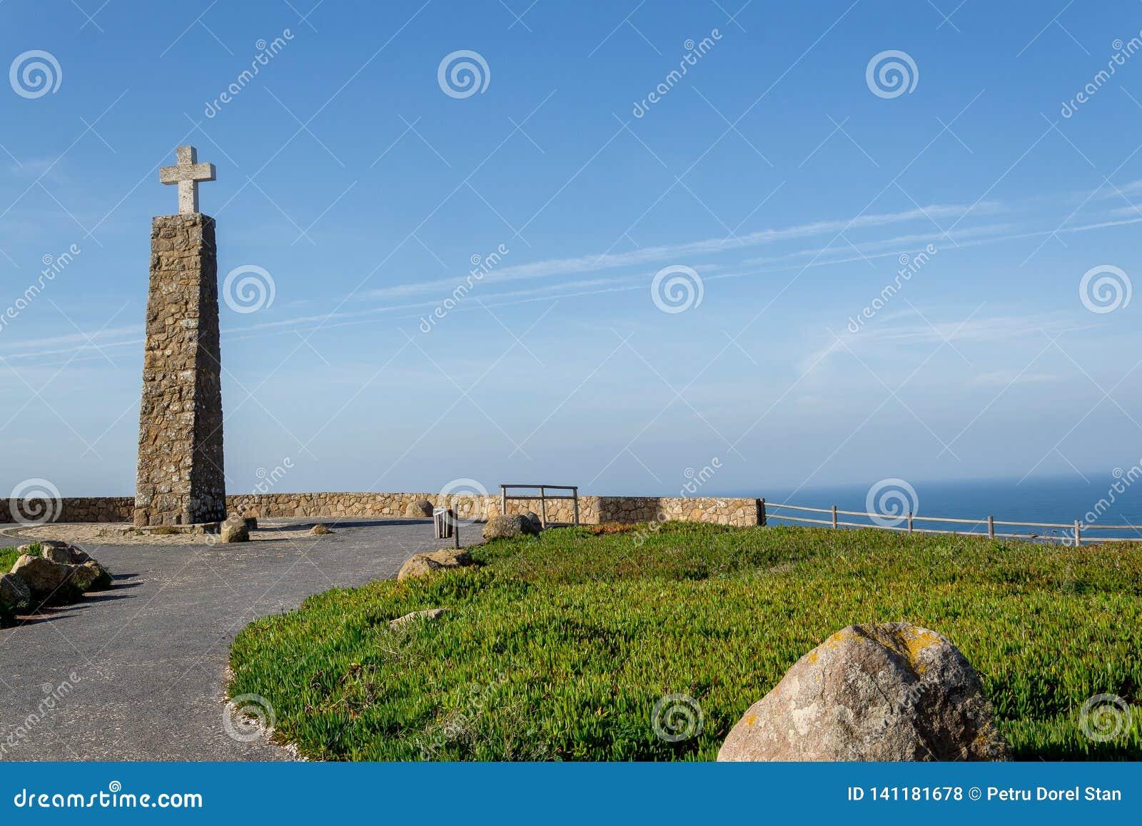 Cabo da Portugal roca falezy nad Atlantyckim oceanem najwi?cej westerly punktu Europejski sta?y l?d