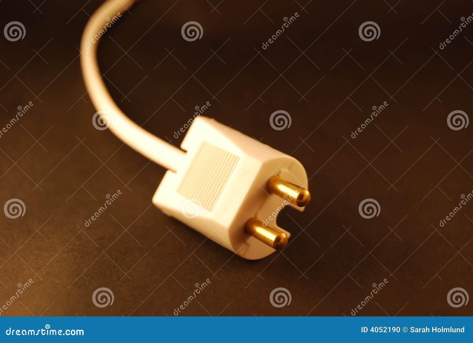 Cabo de potência desconectado