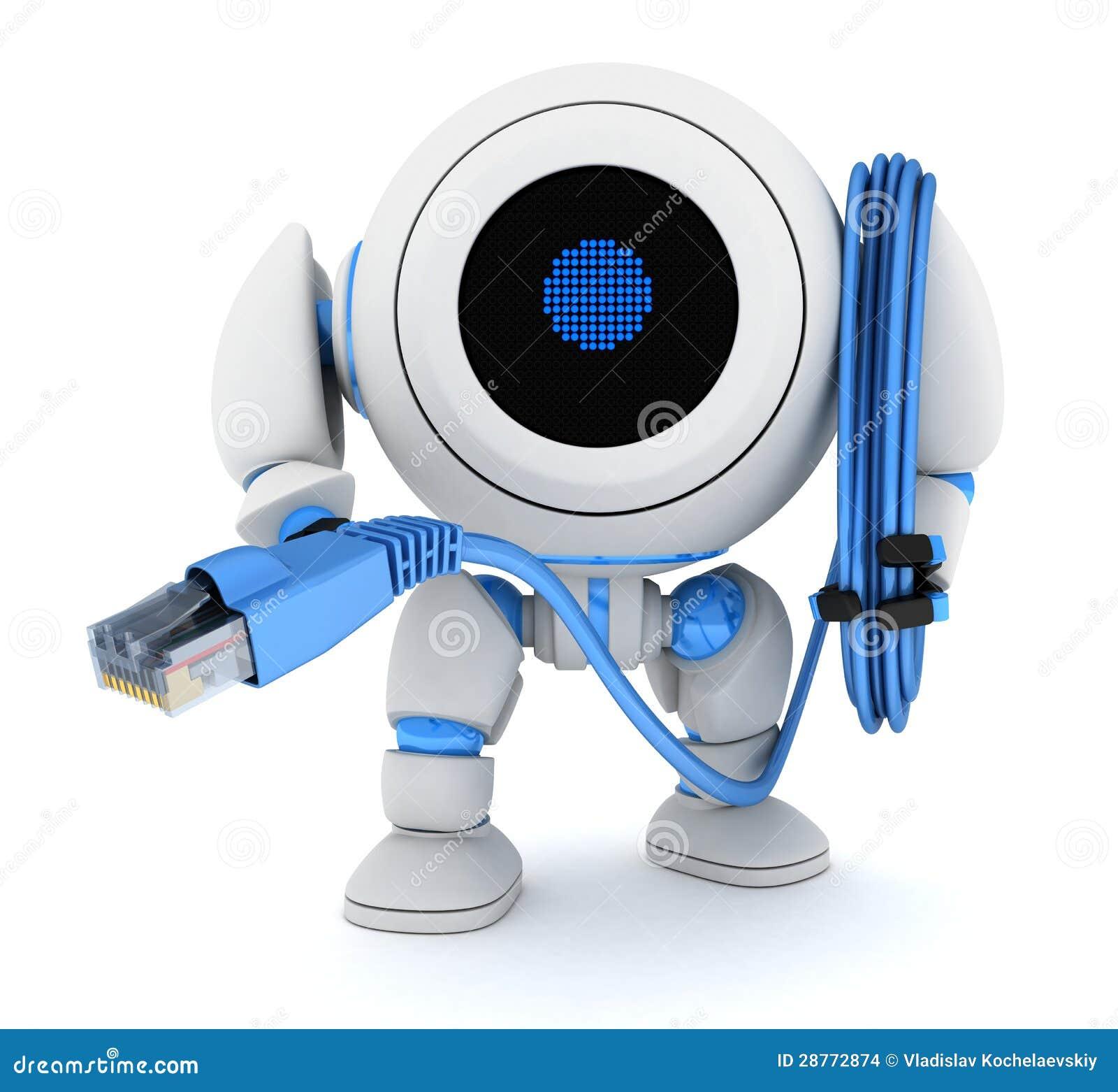 Cabo do robô e do computador