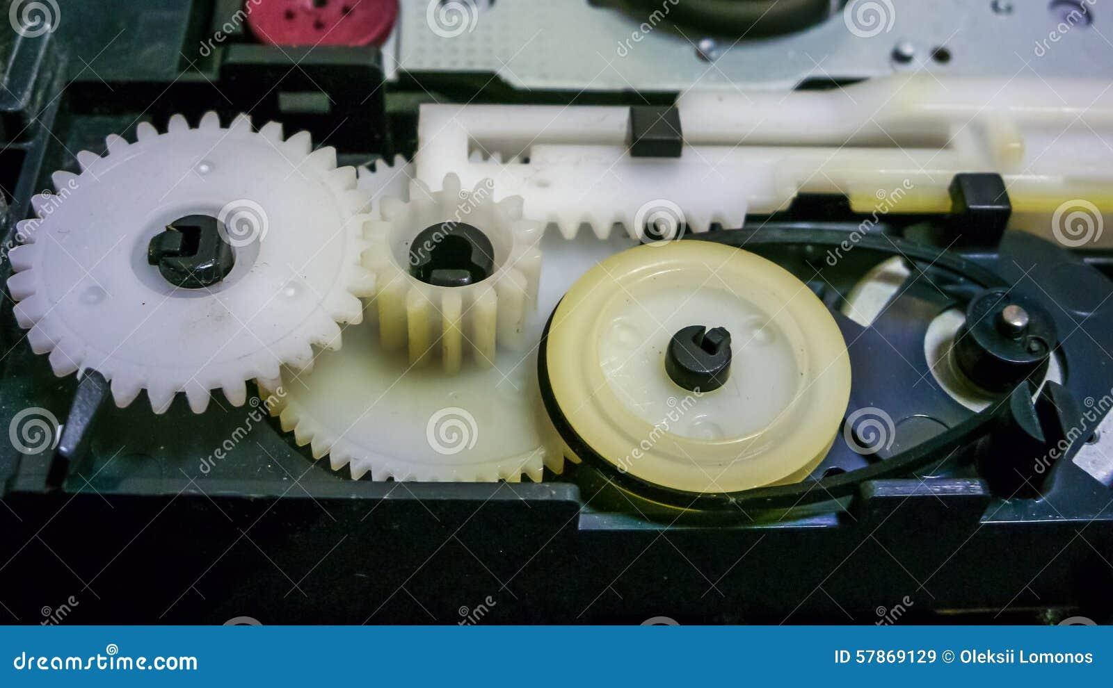 Cabo e motor plásticos para a rotação