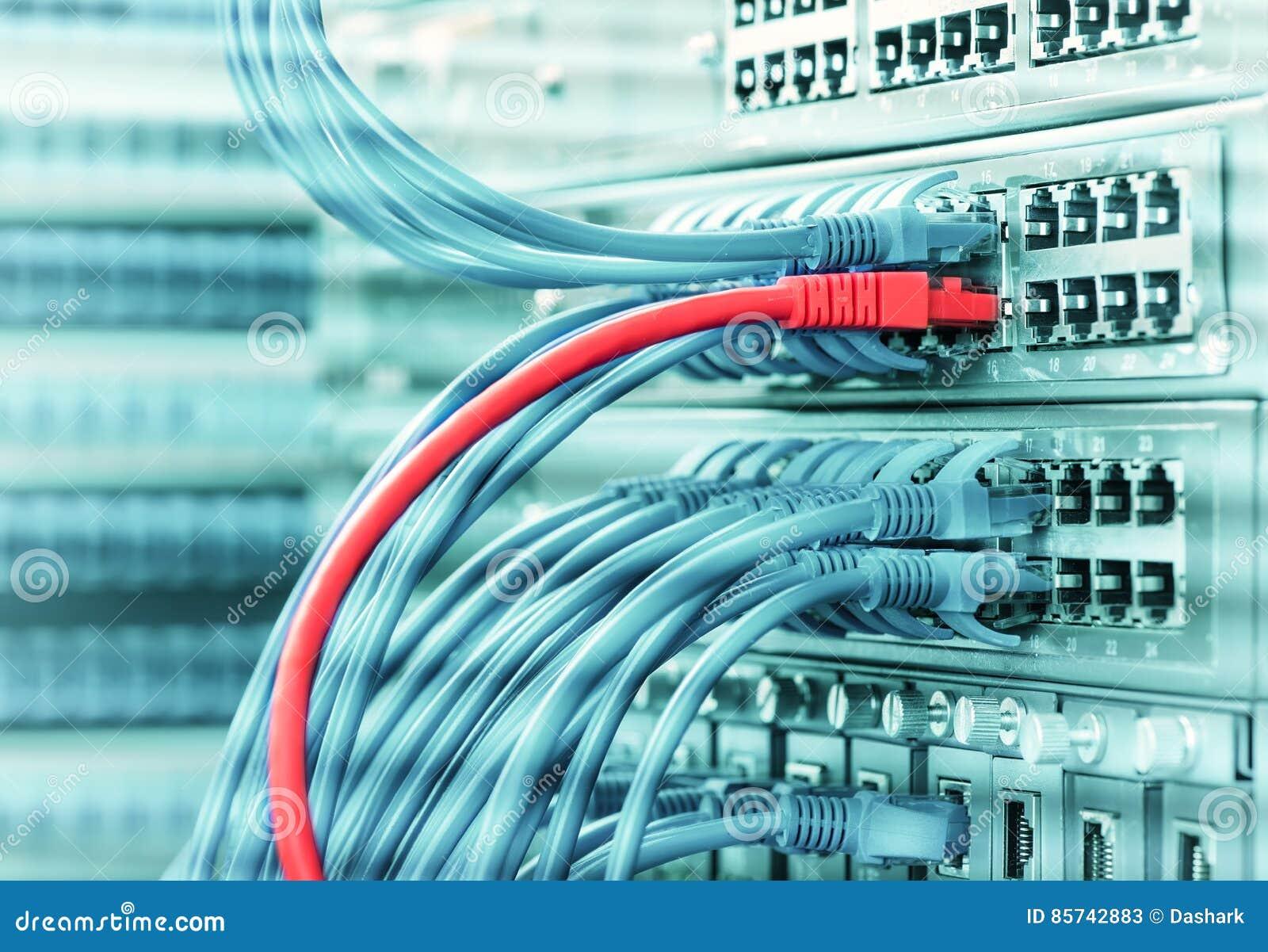 Cabo ethernet em interruptores de rede
