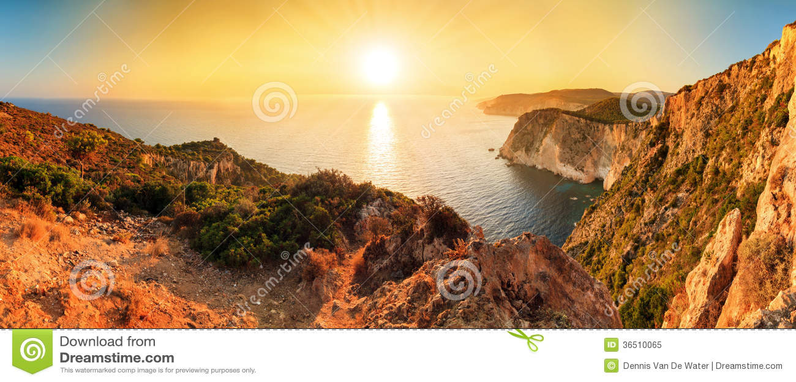 Cabo Keri do panorama do por do sol