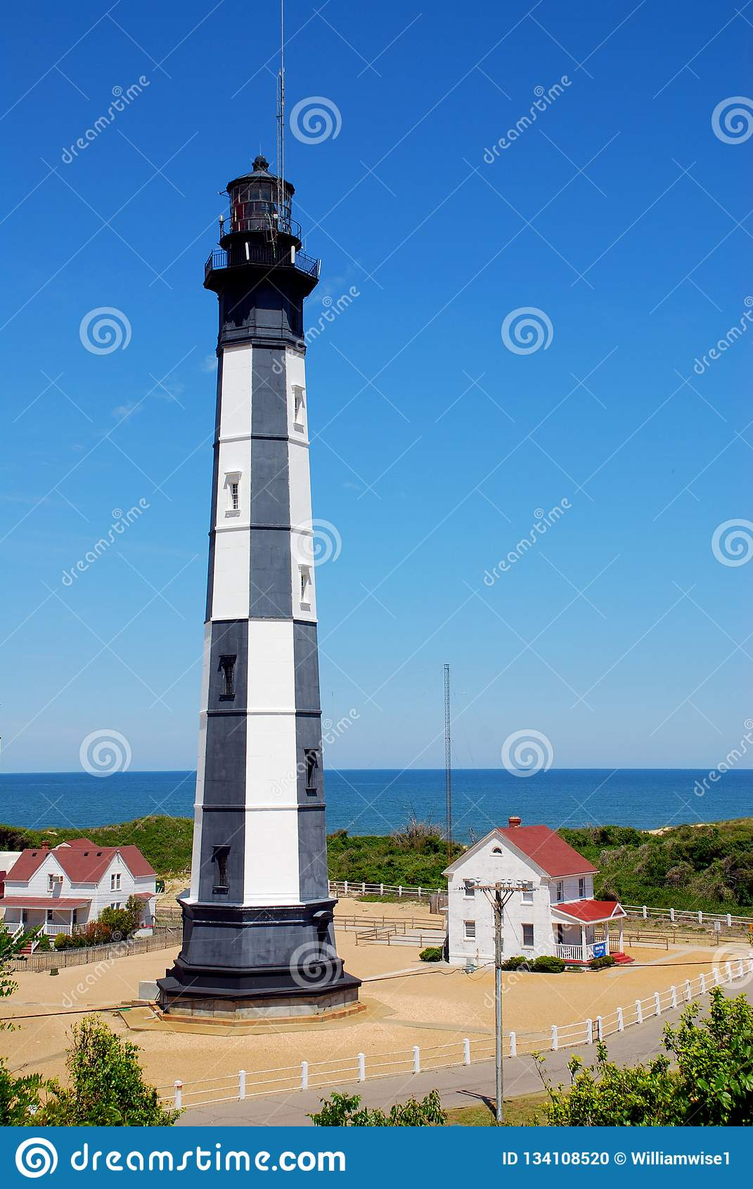 Cabo novo Henry Lighthouse, Virgínia EUA