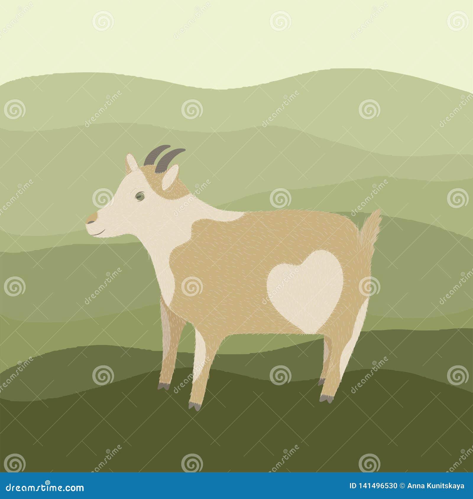 Cabra con el corazón