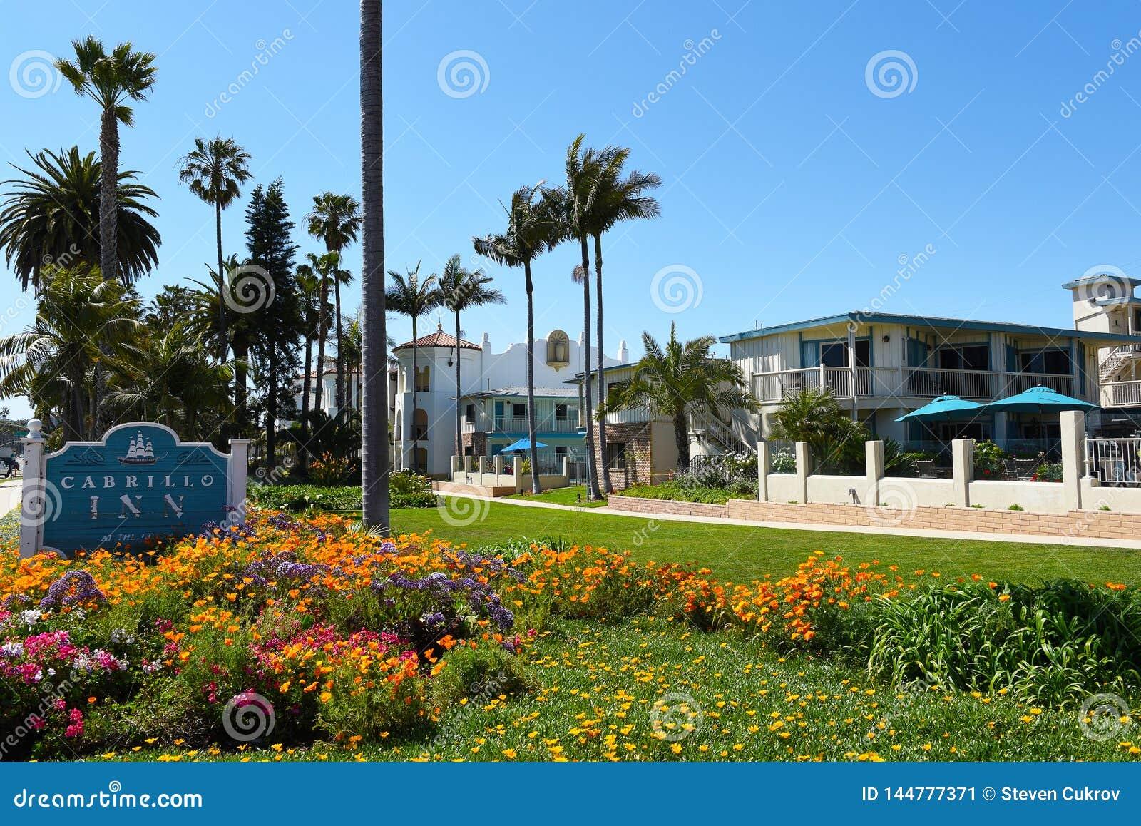 Cabrillo Inn At The Beach Santa Barbara California Editorial Photo Image Of Cabrillo Hotel 144777371