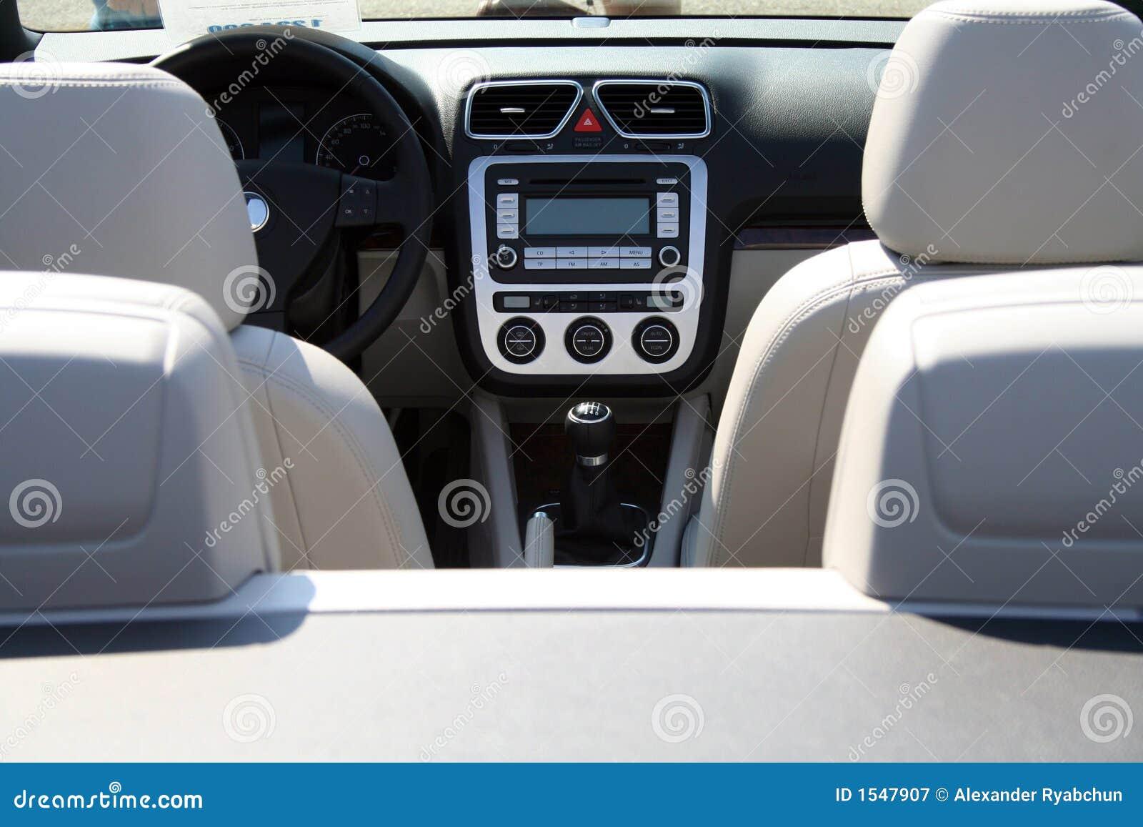 Cabriolet meter panel rudder seats