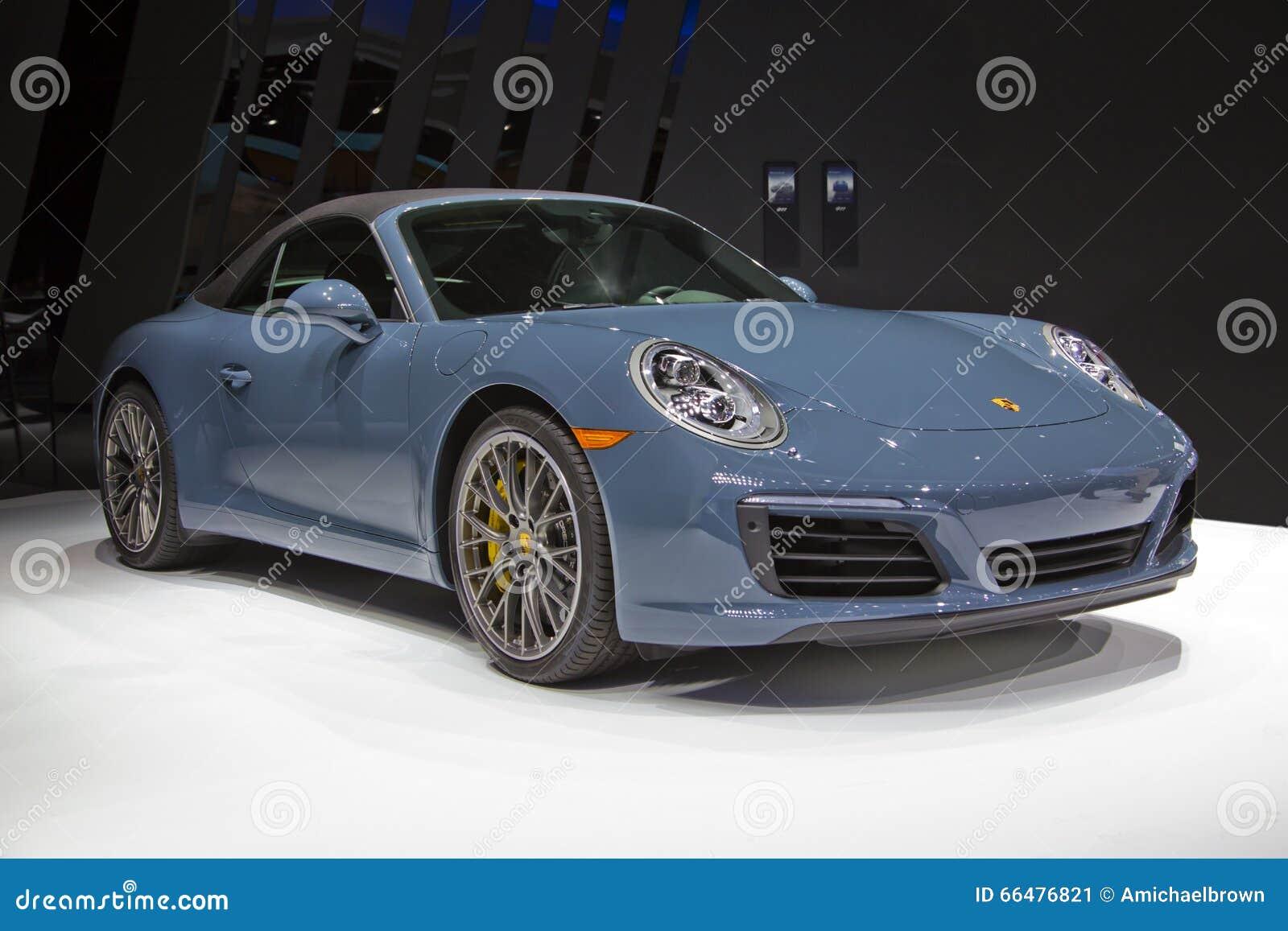 Cabriolet-Sport-Auto Porsches 911 Carrera S