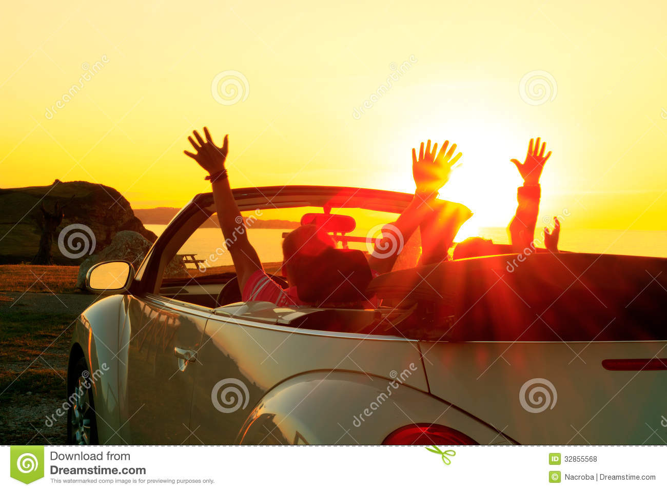 Cabriolet Sunset Royalty Free Stock Photos Image 32855568