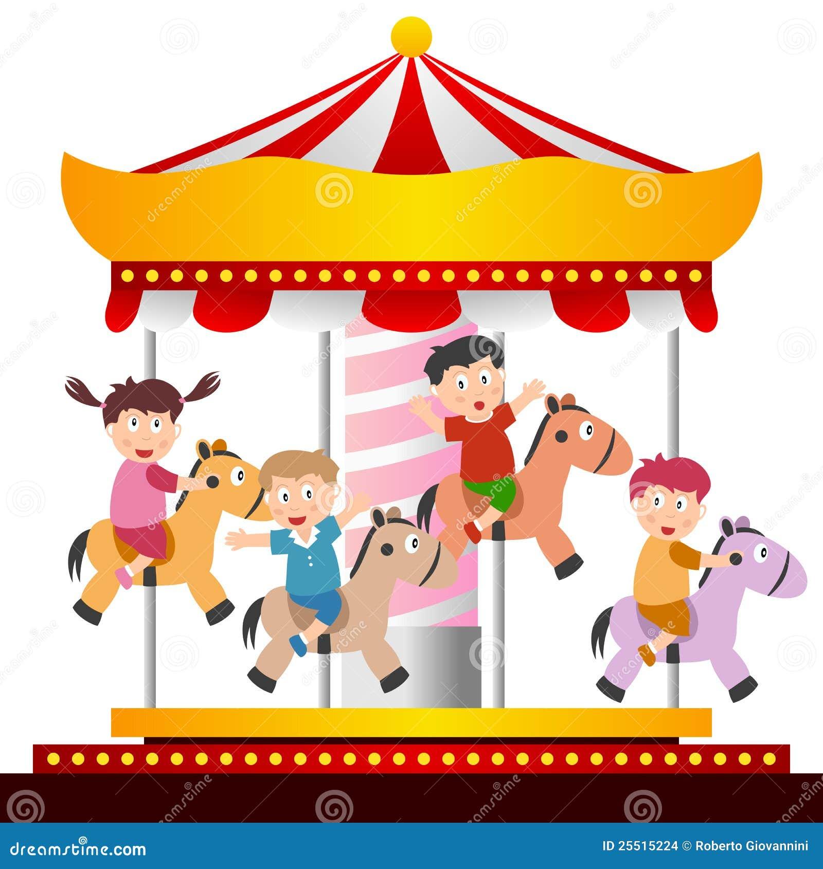 circus horses clipart