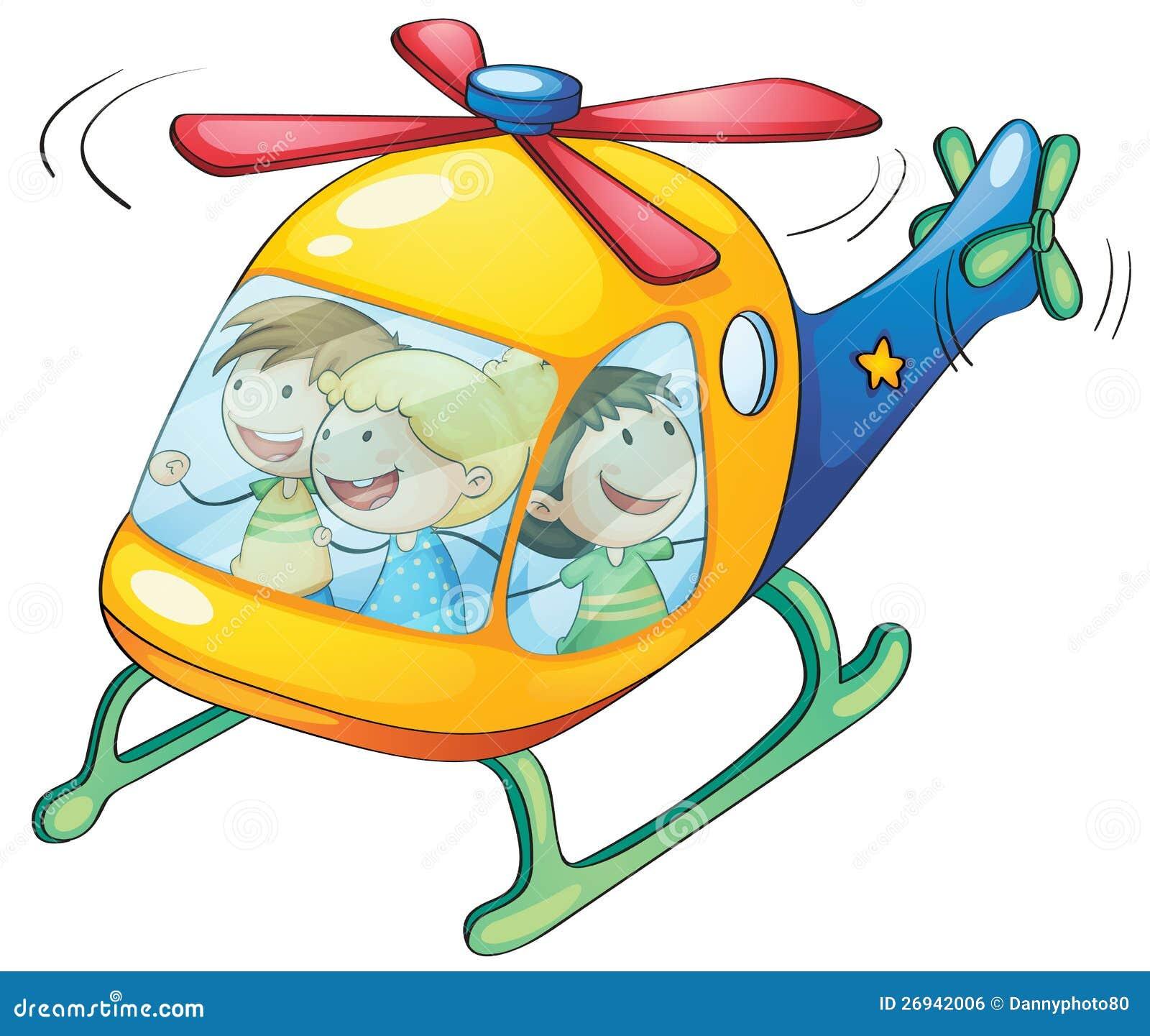 Cabritos en un helicóptero