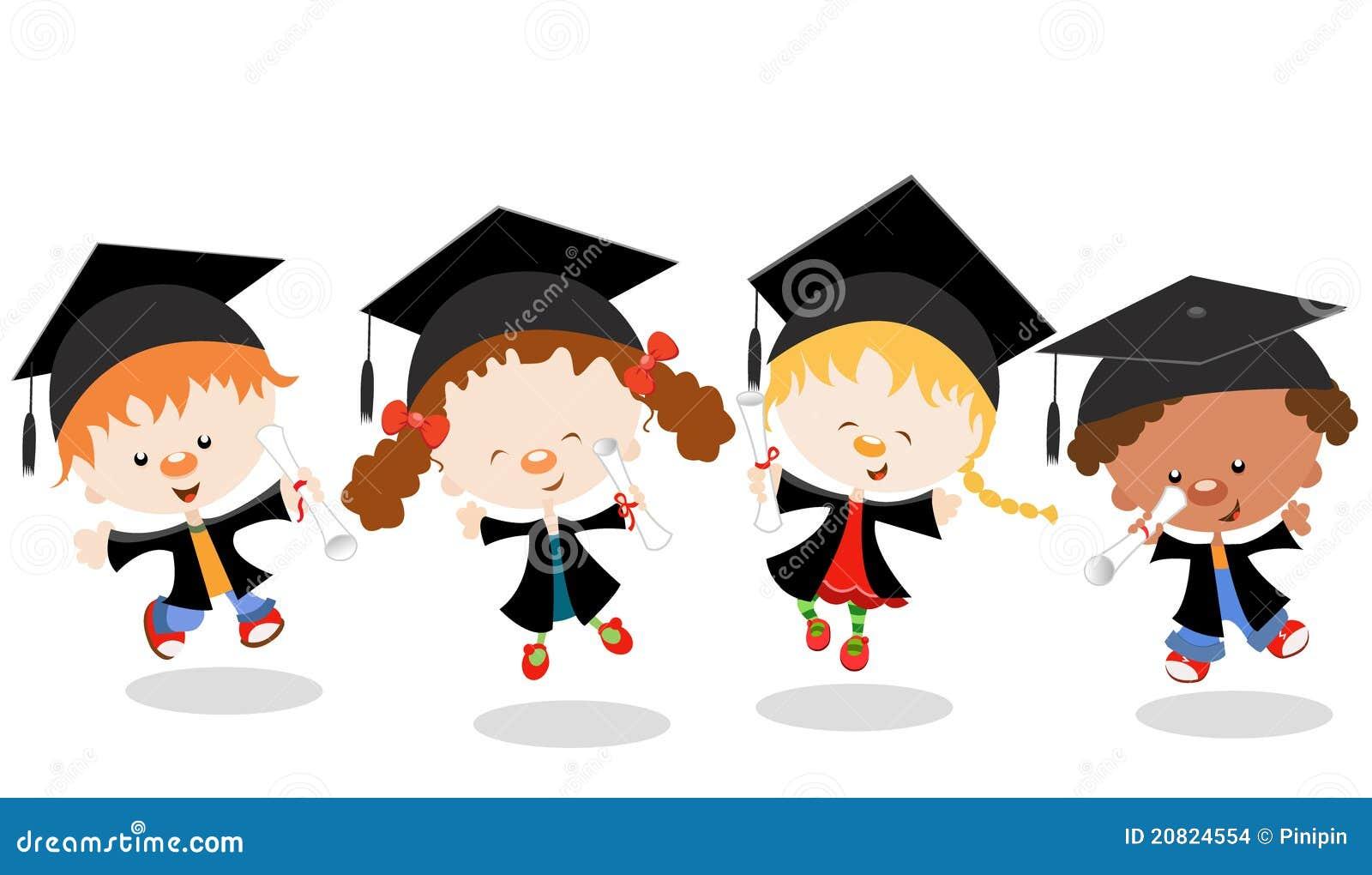 Children Graduation Cartoon