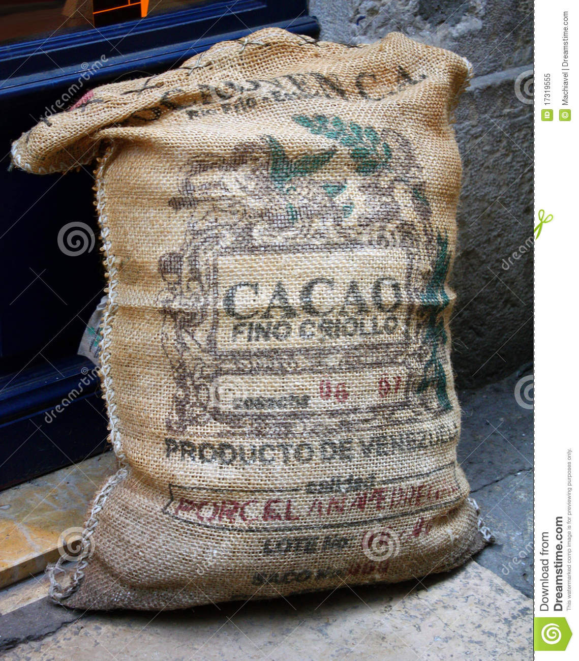 Cacao Bag Stock Image Image Of Bean Tree Manufacture