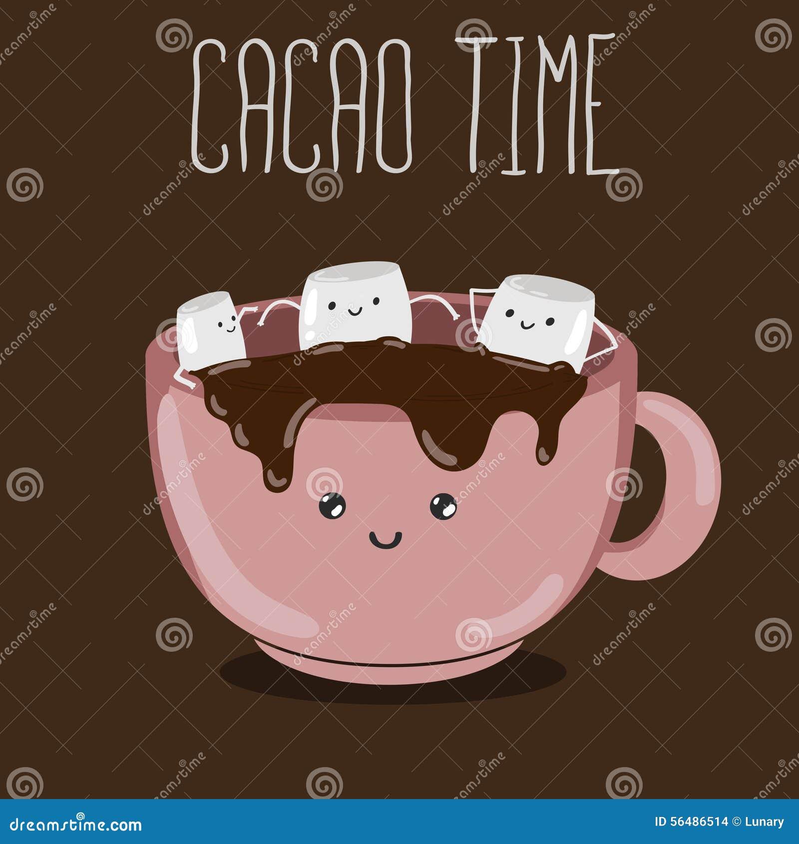 Cacao chaud avec des guimauves
