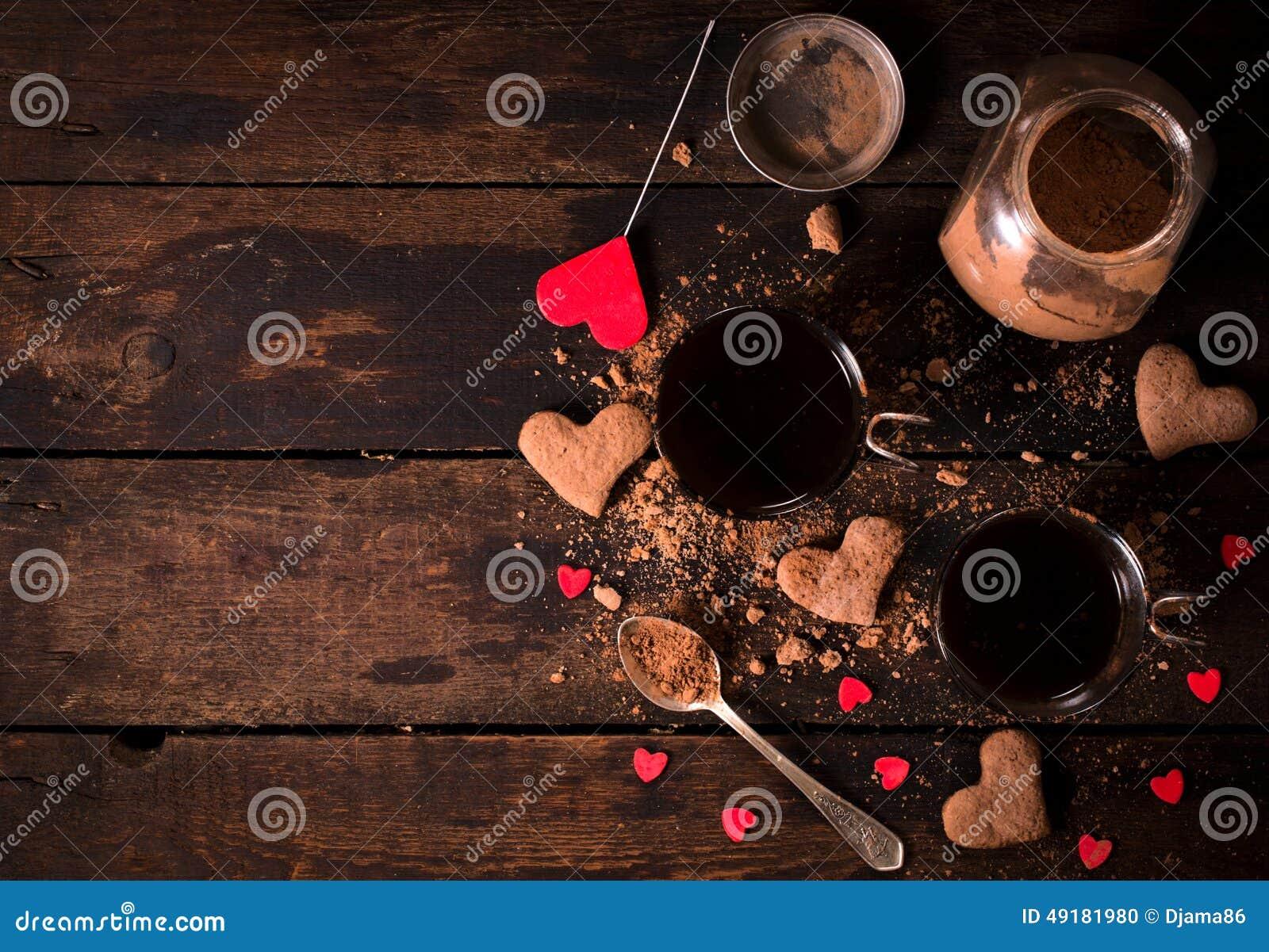Cacao et biscuits chauds