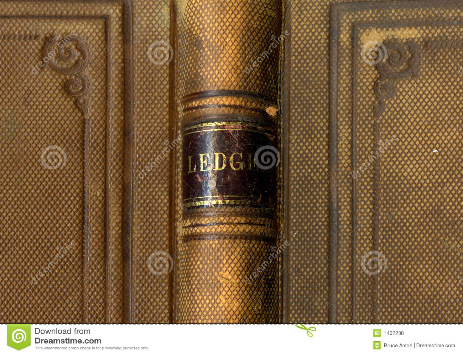 Cache de livre antique de registre