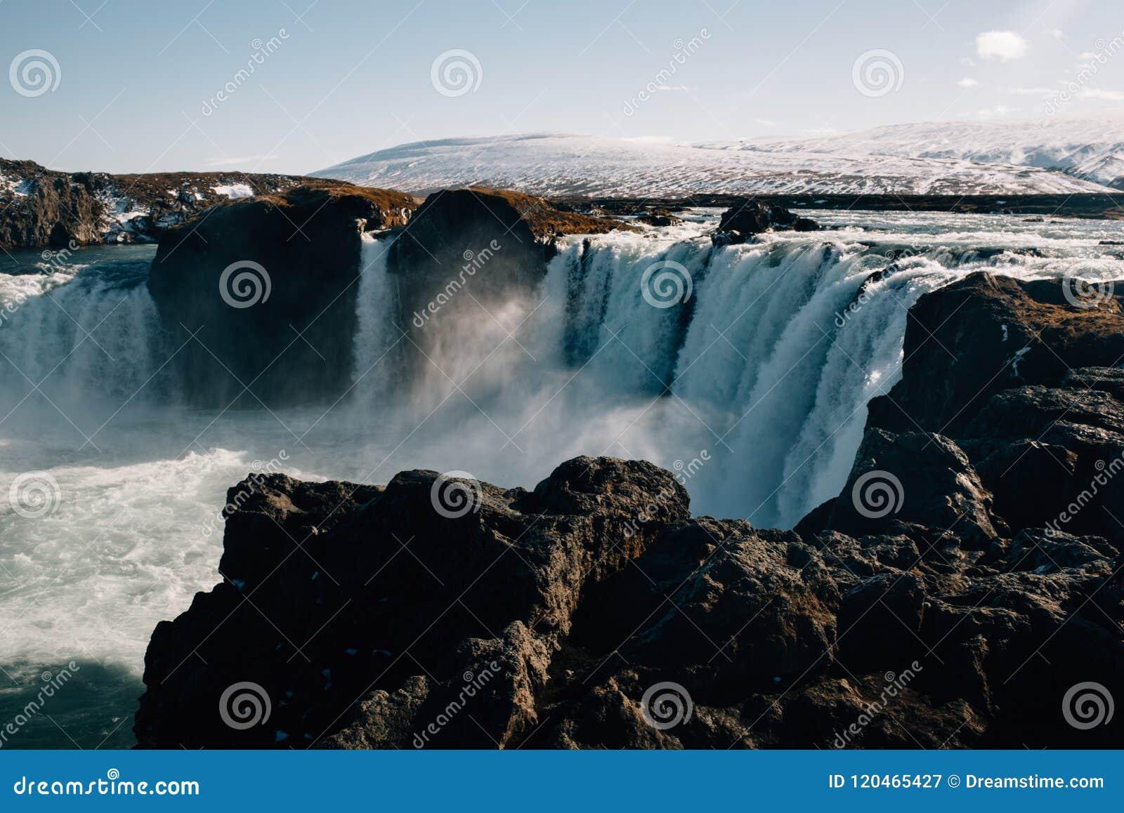 A cachoeira de Godafoss