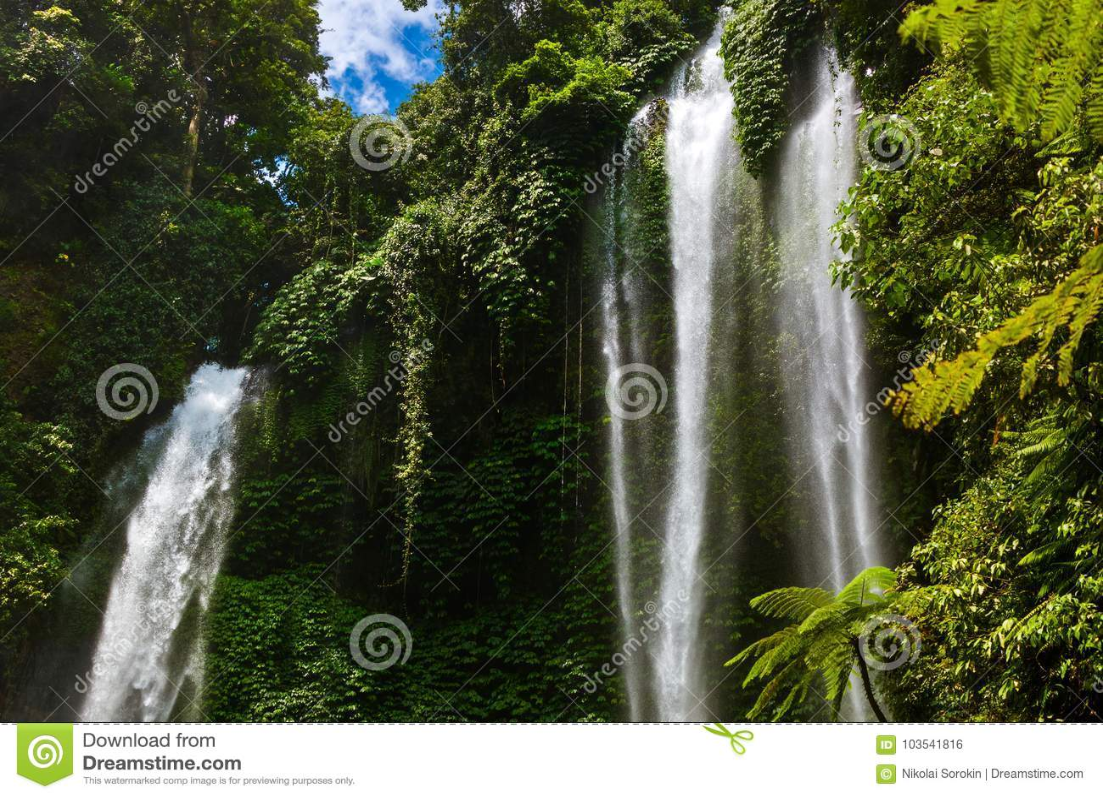 Cachoeira de Sekumpul - ilha Indonésia de Bali