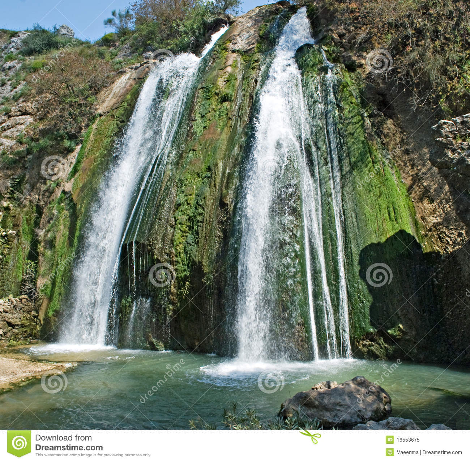 Cachoeira em Israel