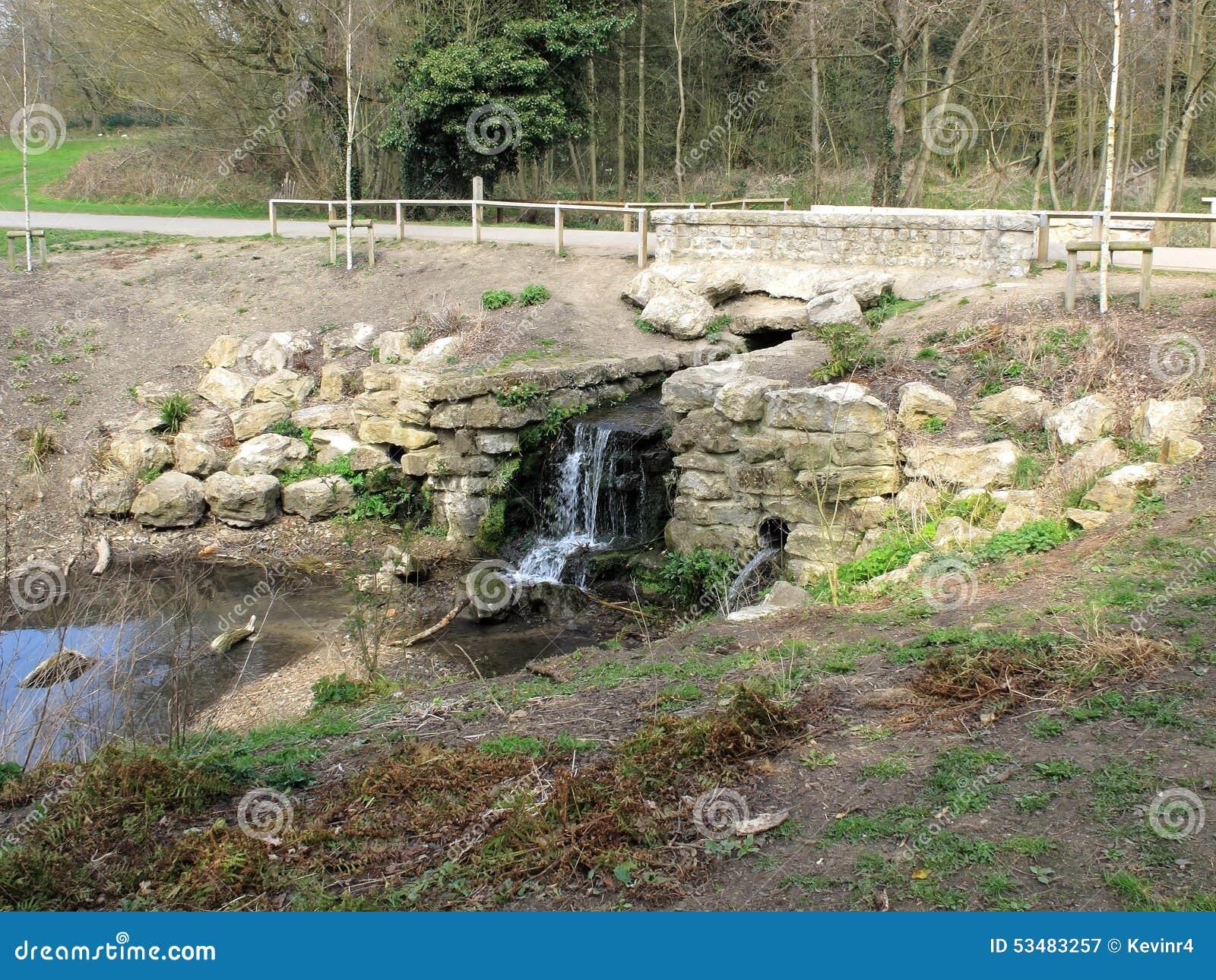 Cachoeira pequena no parque do cisco