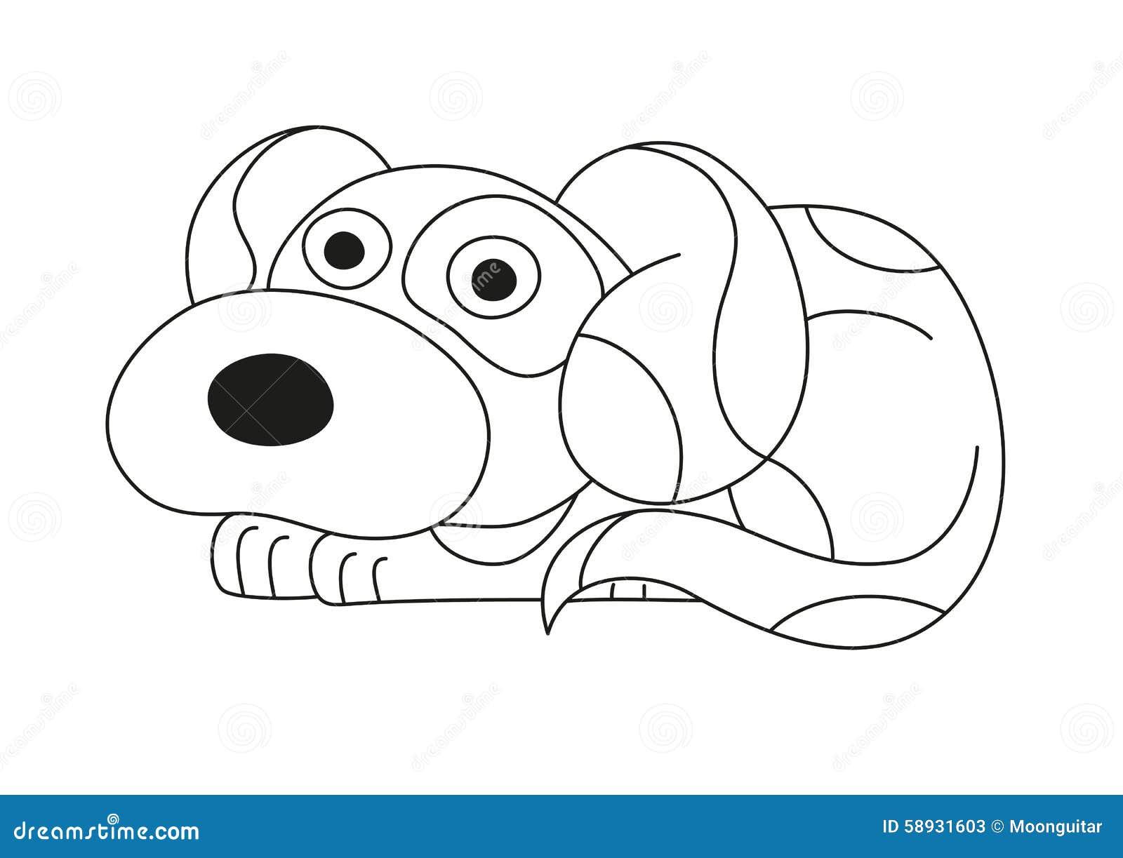 cachorrinho dos desenhos animados página do livro para colorir para