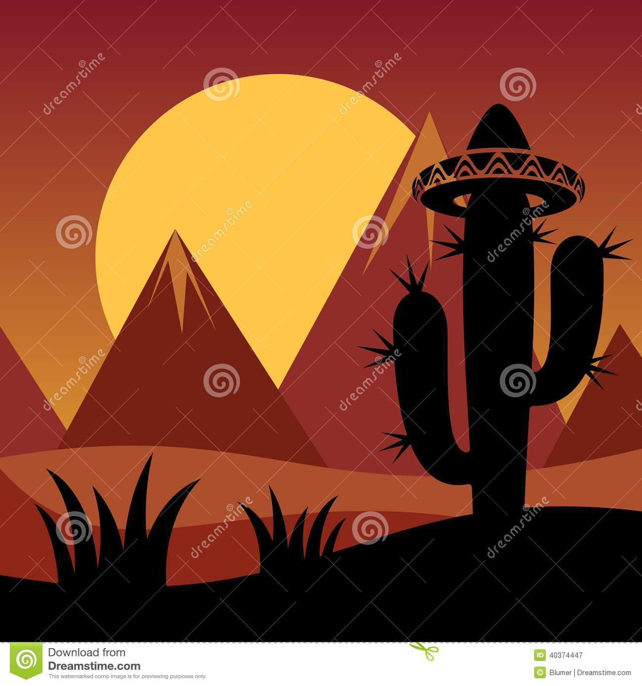 Cactus With Sunset Background for Pinterest HD Wide Wallpaper for Widescreen
