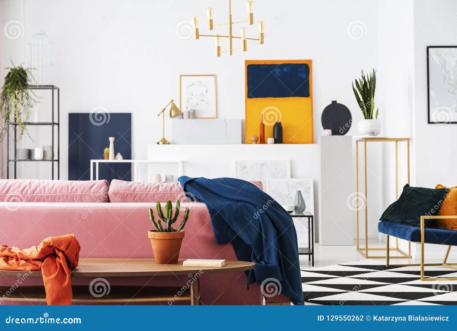 Cactus Dans Le Pot Sur La Table En Bois En Appartement