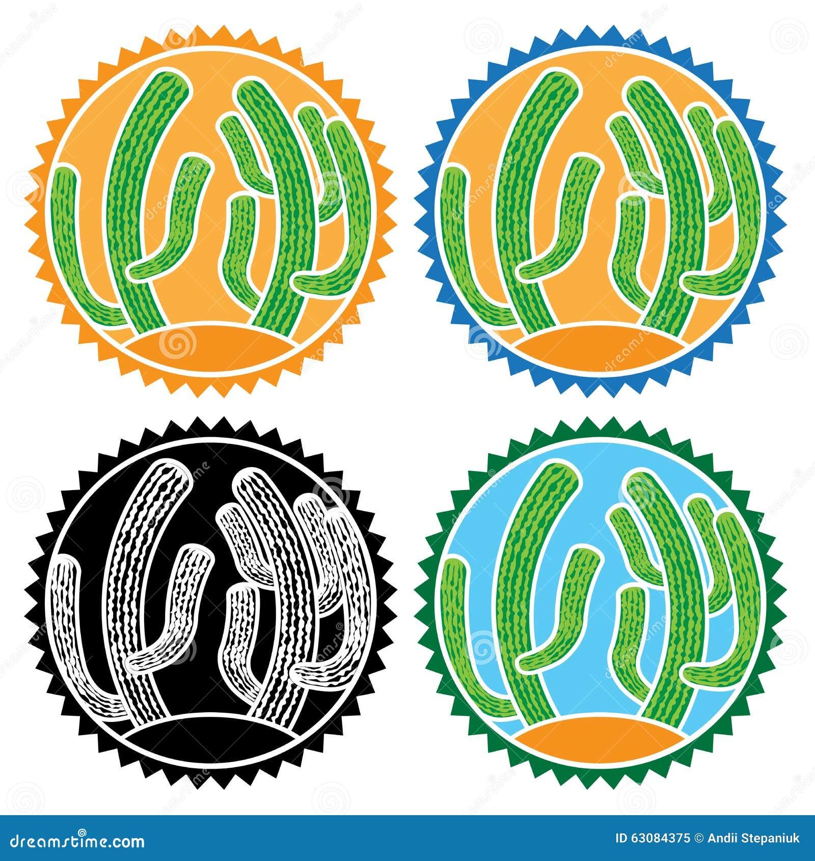 Download Cactus de bande dessinée illustration de vecteur. Illustration du crépuscule - 63084375