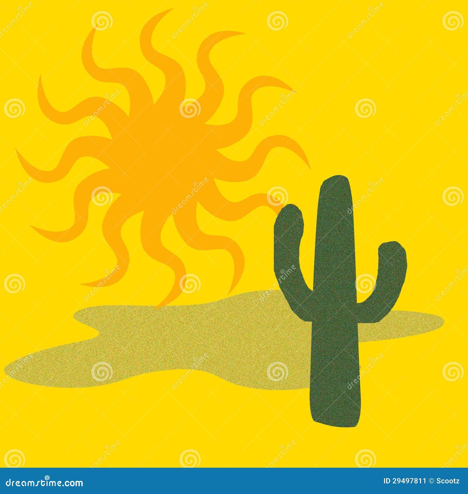 Cactus del deserto caldo