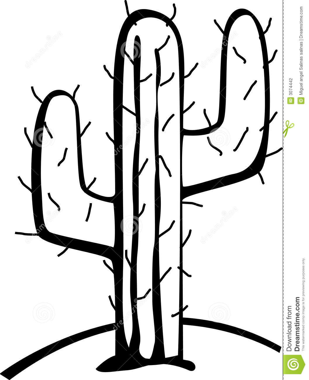 Cactus In The Desert Vector Illustration Stock Photography - Image ...