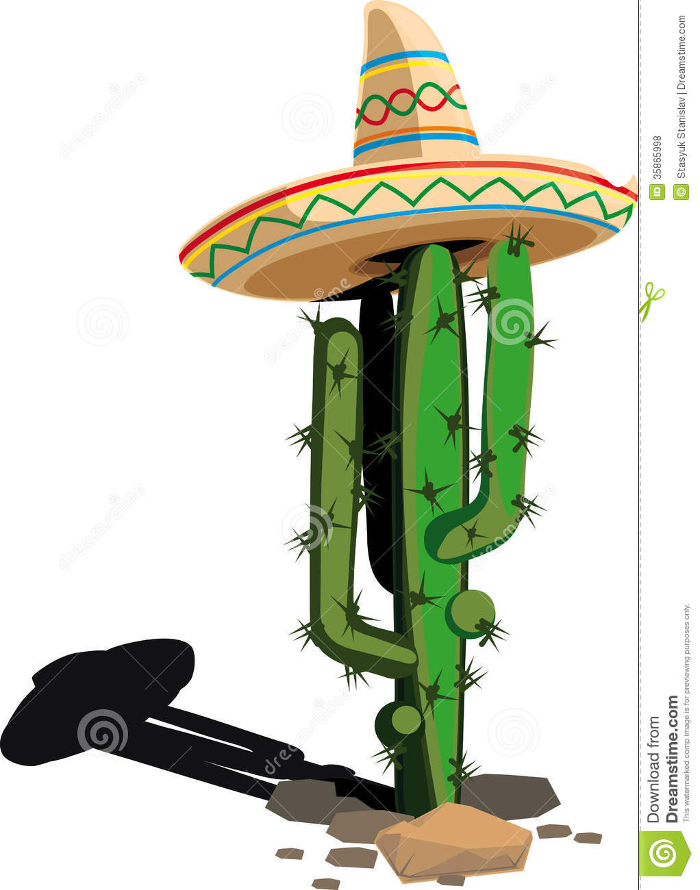 Cactus In The Mexican Hat Royalty Free Stock Photos ...