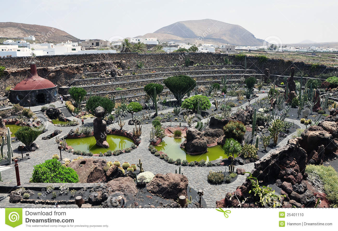 Cactus park on lanzarote island stock photo image of for Jardin cactus lanzarote