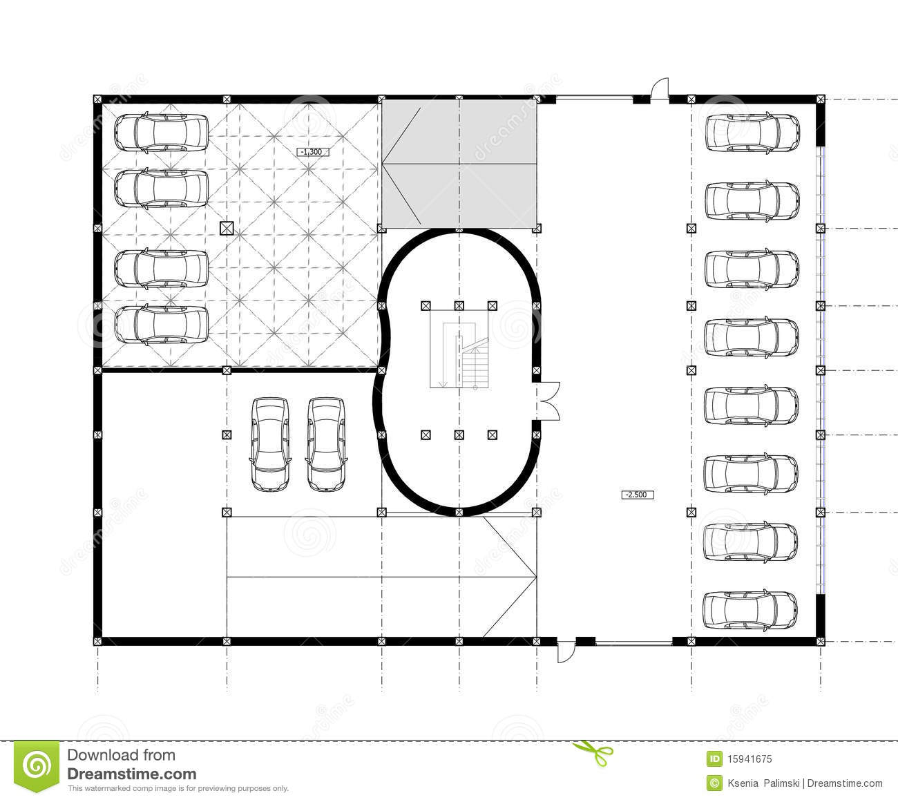 Architecture Drawing Plan architectural cad drawing stock image - image: 36028711
