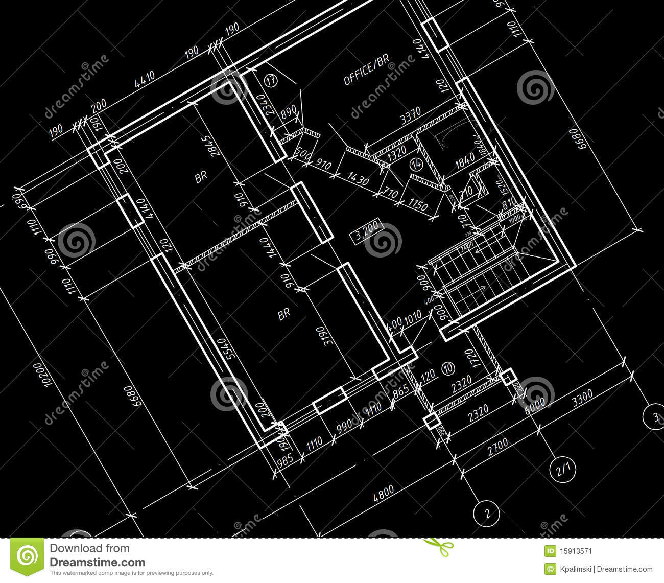 Cad architectural plan drawing blueprint stock for Architecture design blueprint