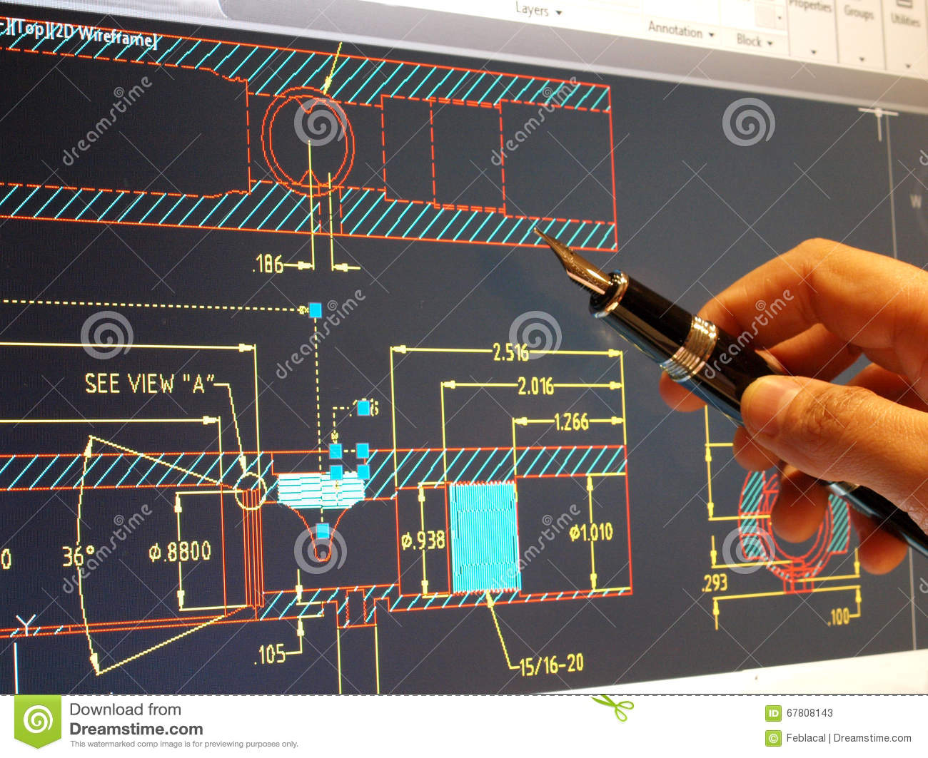 Cad blueprint stock image. Image of builder, drawing - 67808143