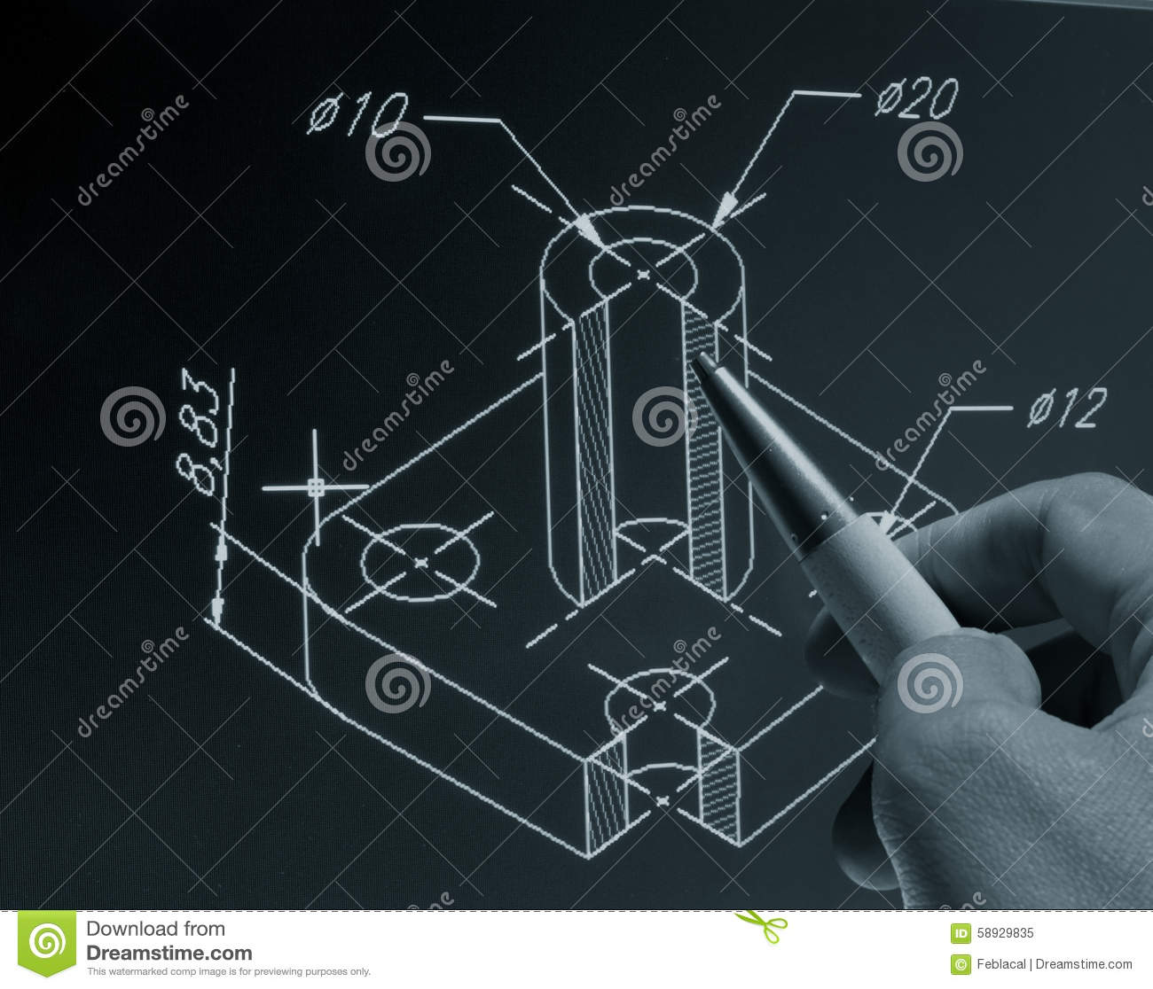 Cad blueprint stock image image of drawing product 58929835 cad blueprint malvernweather Image collections
