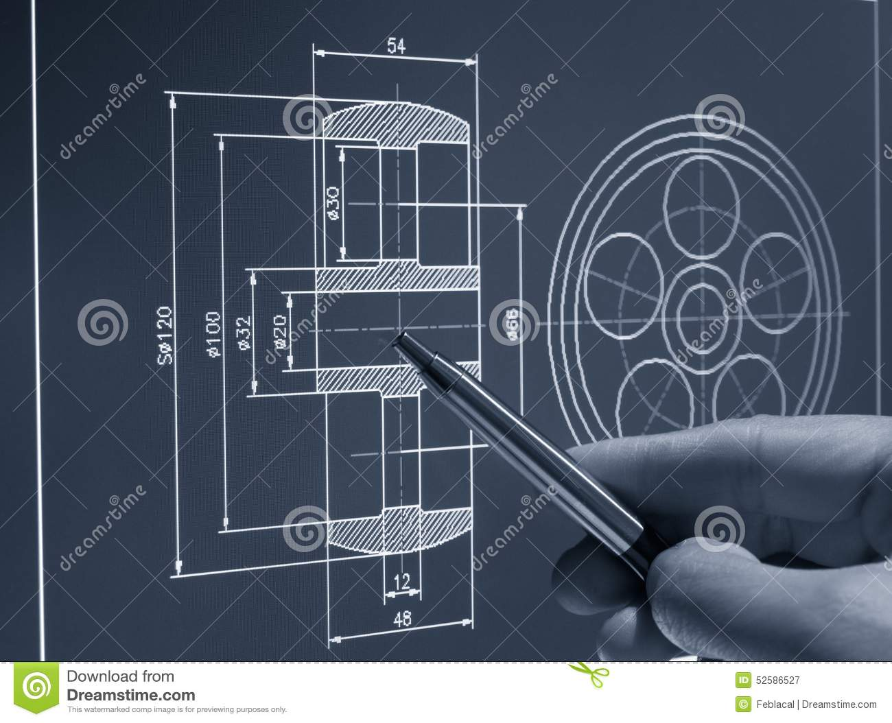 Cad Design Stock Image Image Of Built Contractor Frame