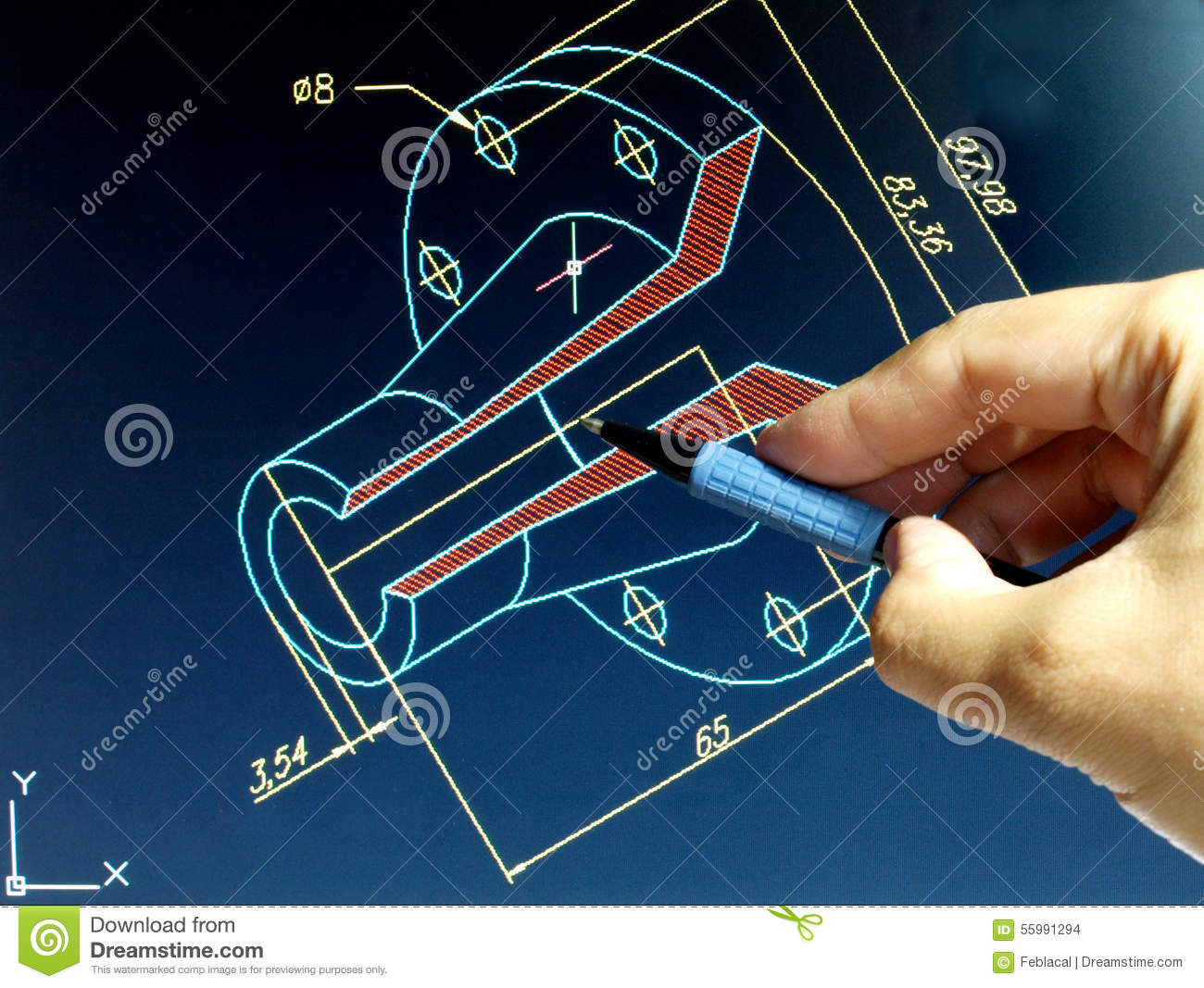Cad design stock photo image of mechanism technology for Design table not working solidworks