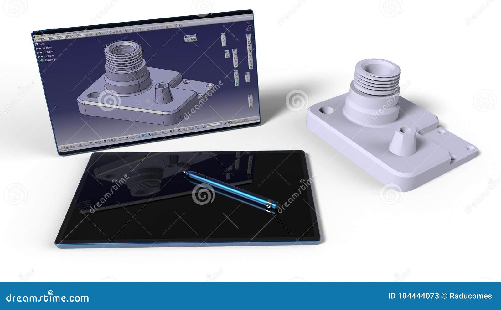 CAD engineer working desk