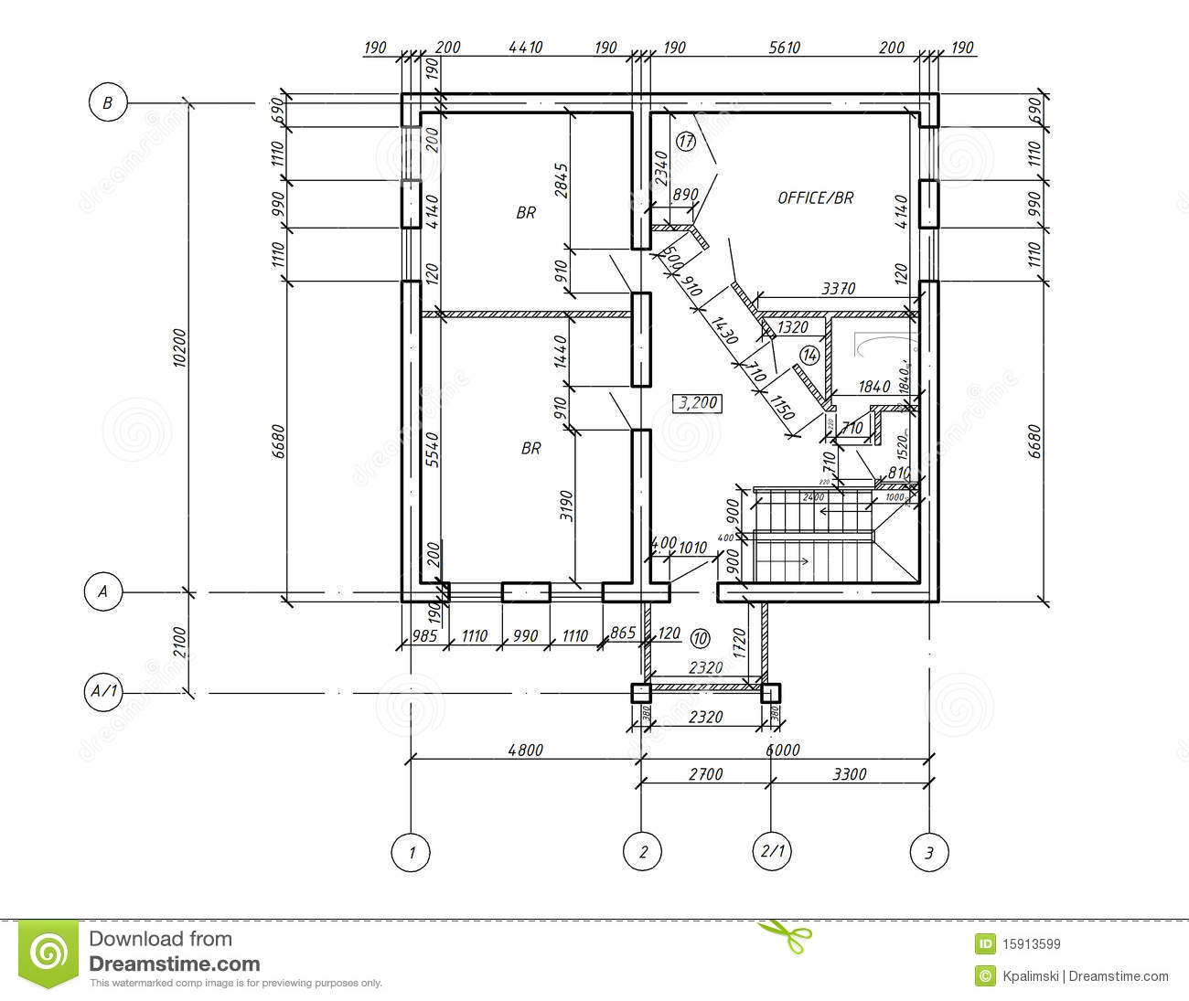 The Hoke House Floor Plan Cad Plan Drawing Blueprint Royalty Free Stock Images