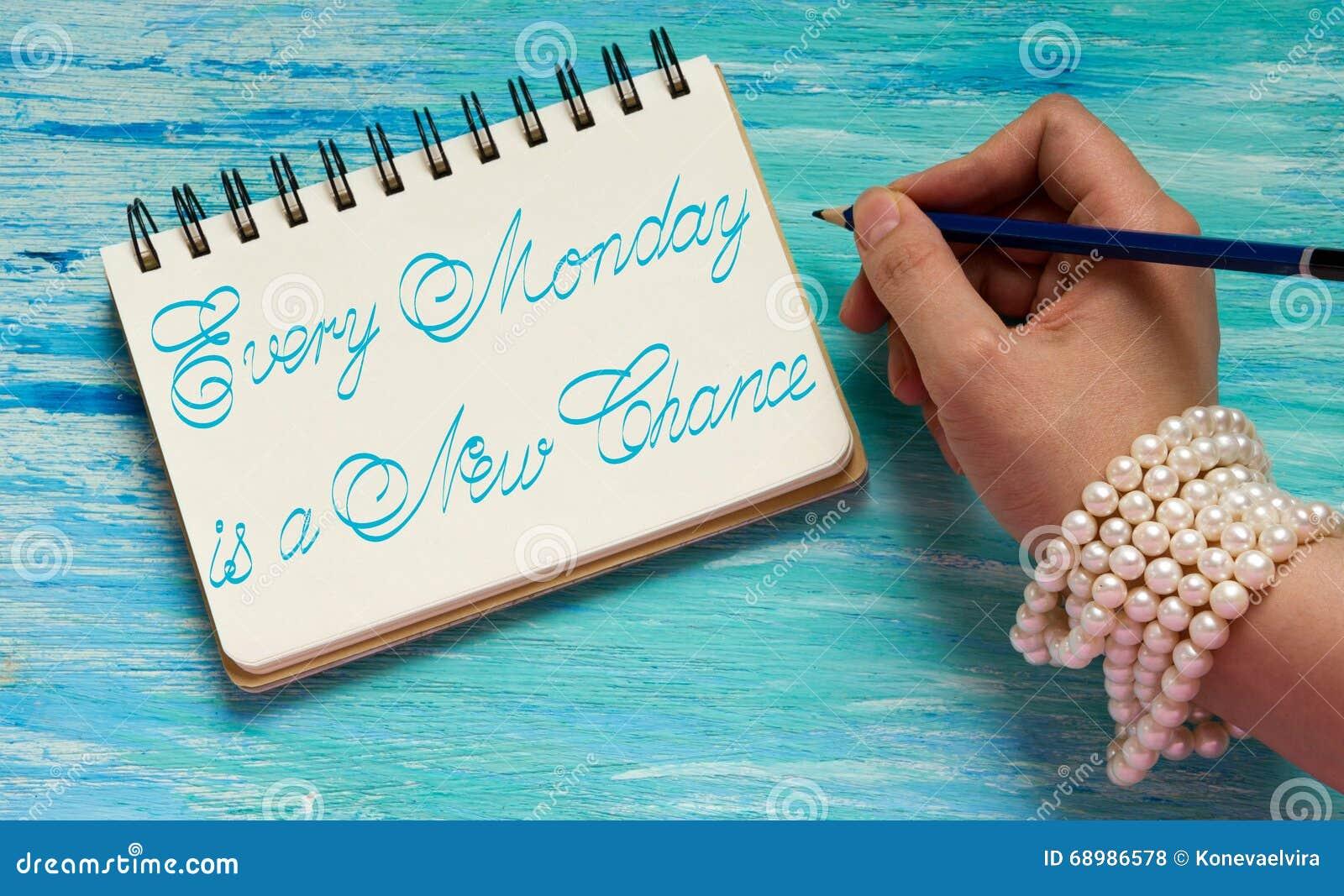 Cada lunes es una nueva ocasión