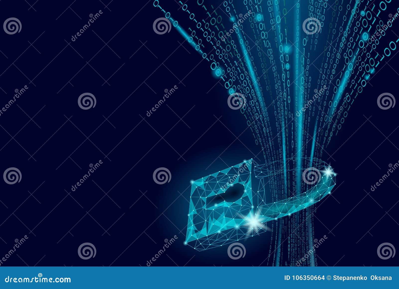 Cadeado da segurança do Cyber na massa dos dados Do Internet da segurança do fechamento da informação da privacidade inovação fut