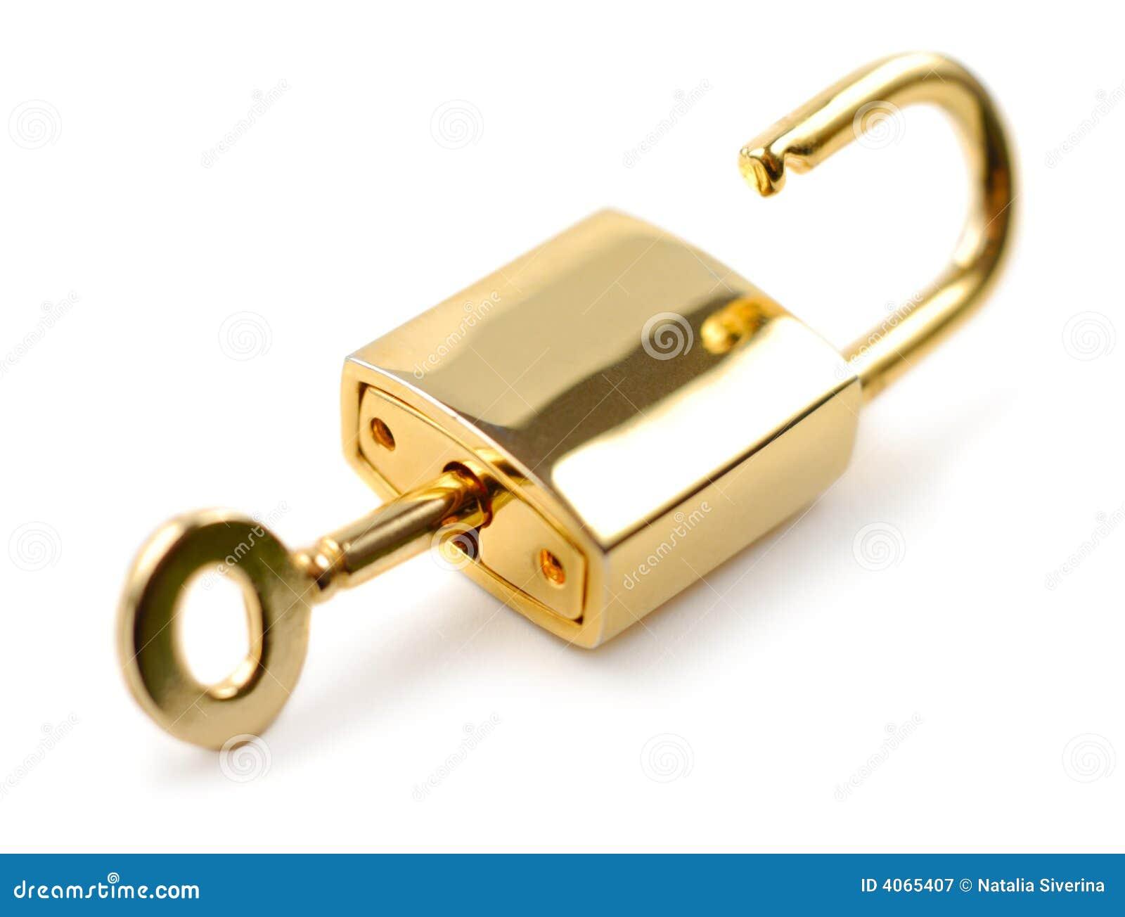 Cadeado destravado
