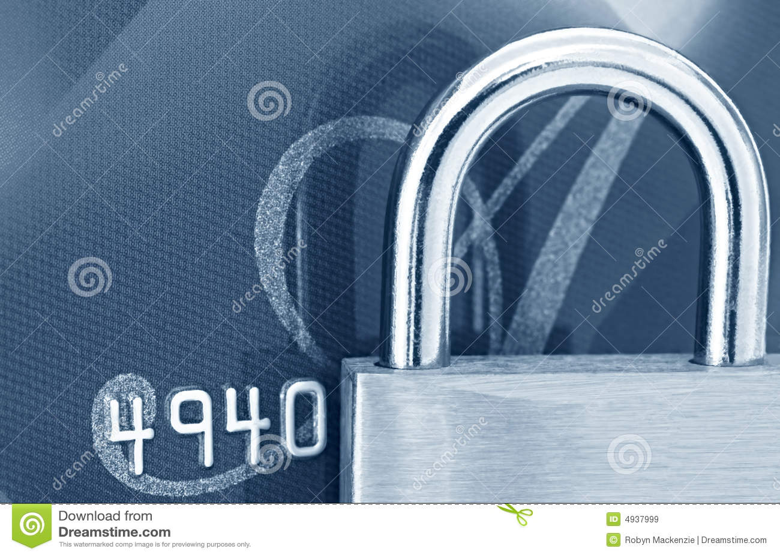 Cadeado no cartão de crédito