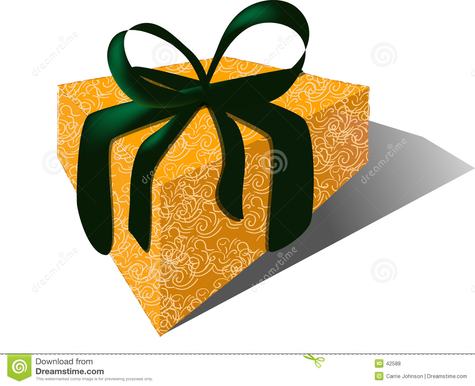Cadeau avec la bande de velours et l enveloppe de brocard