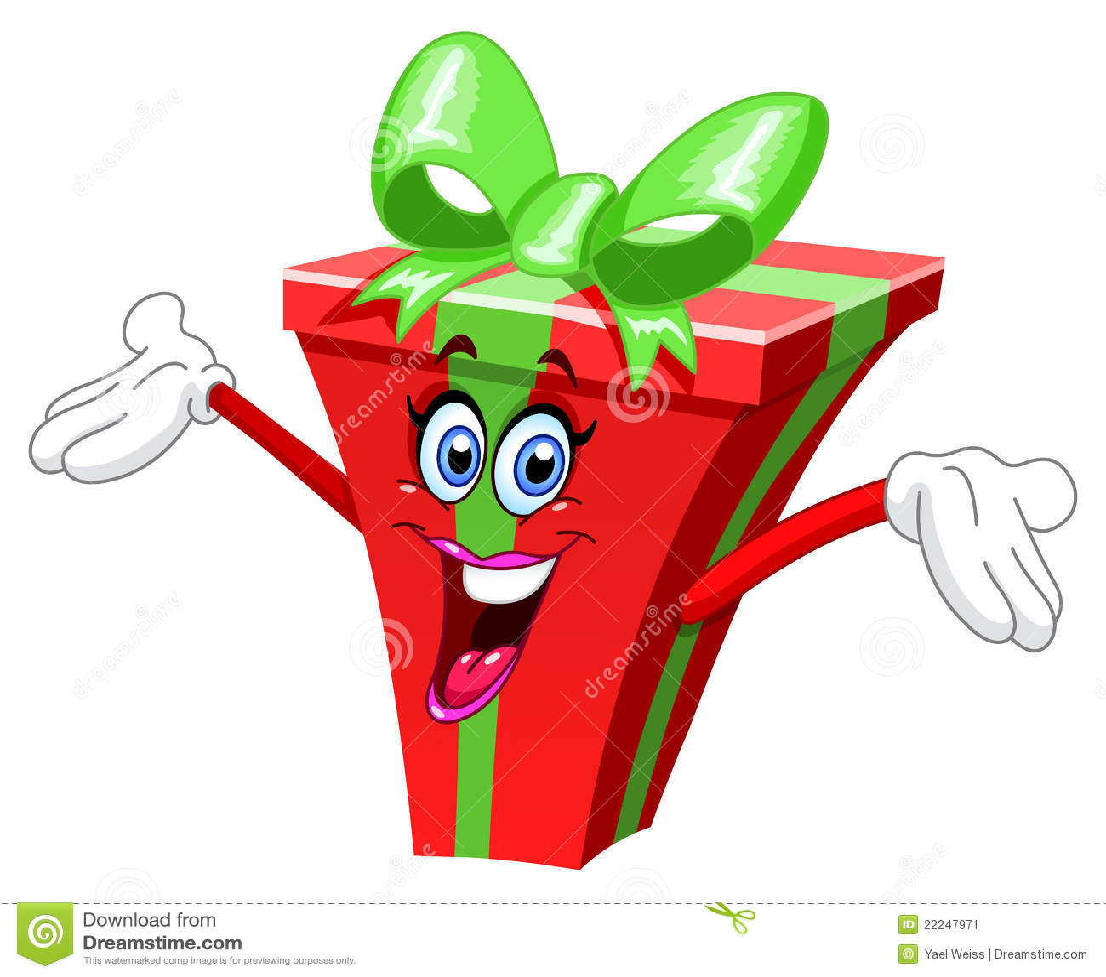 Cadeau de dessin anim image stock image 22247971 - Dessin de cadeau ...