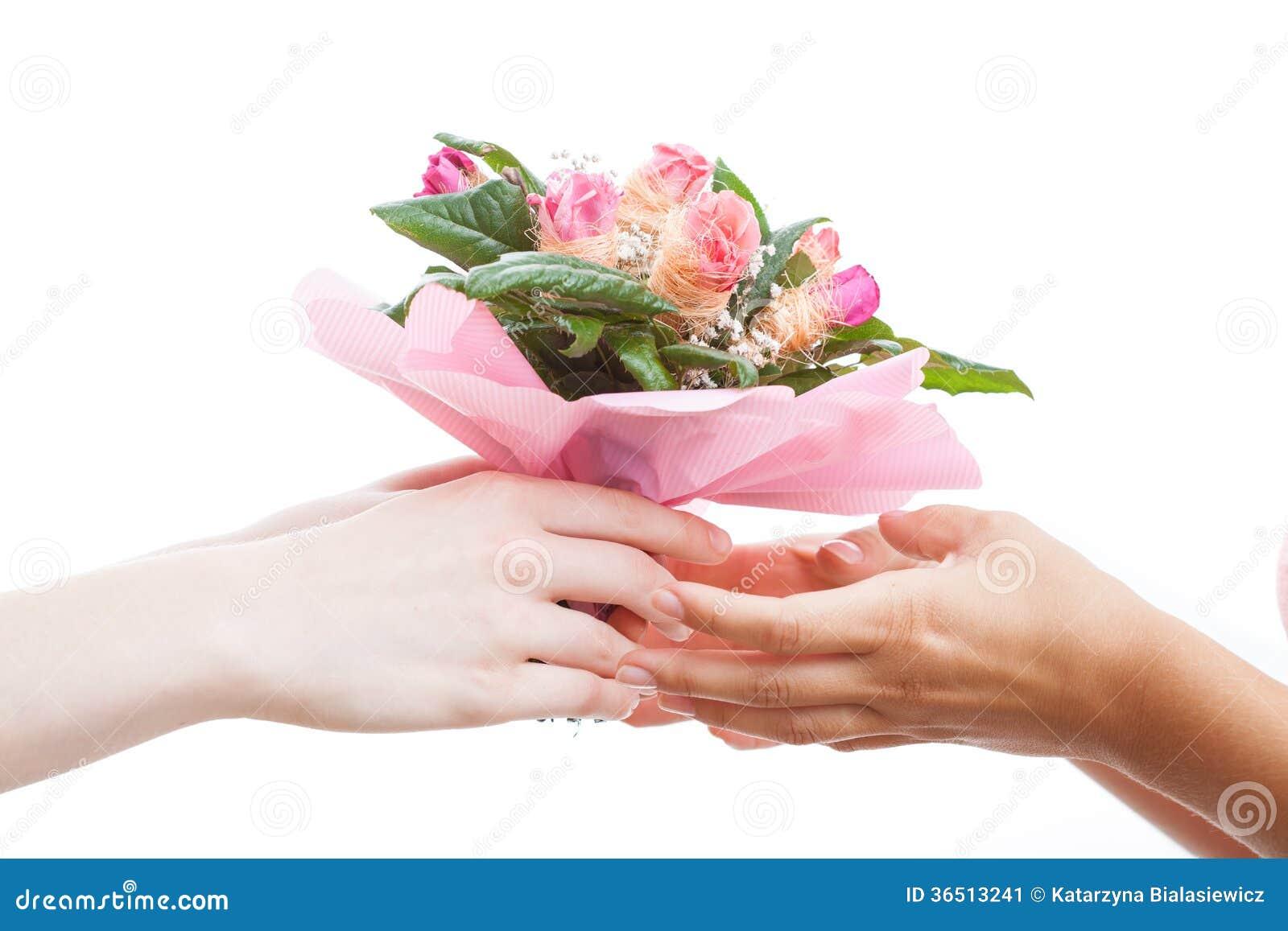 Cadeau de groupe de fleur