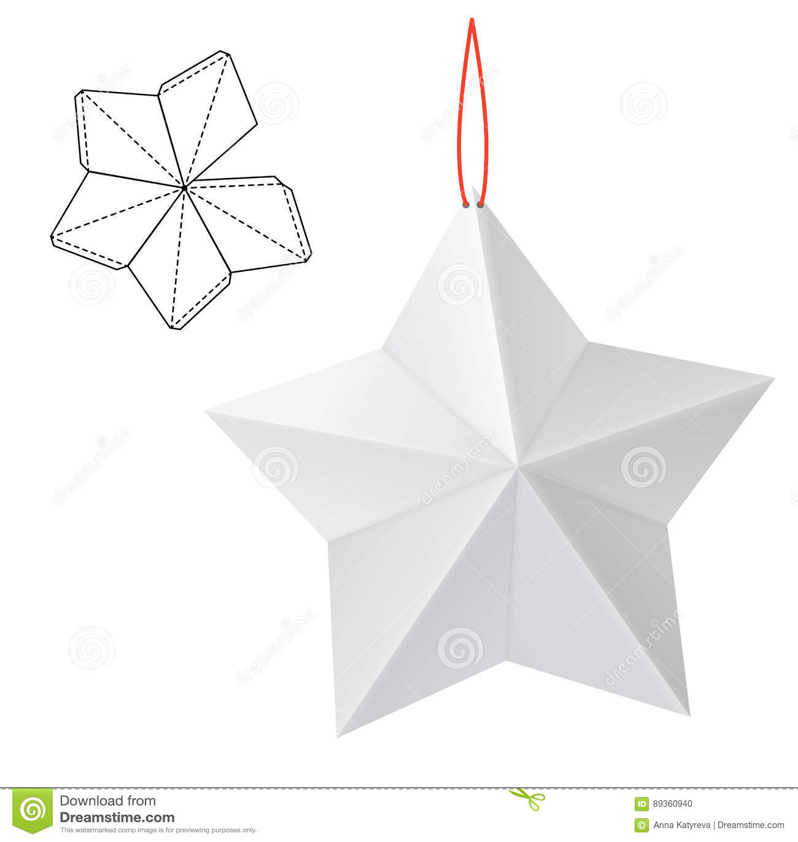 Cadeau de papier d étoile