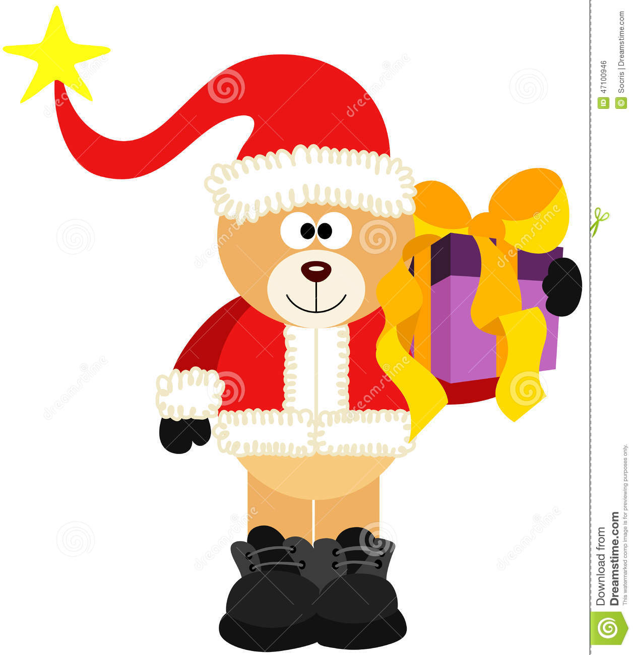 Cadeau de Teddy Bear Santa With Christmas