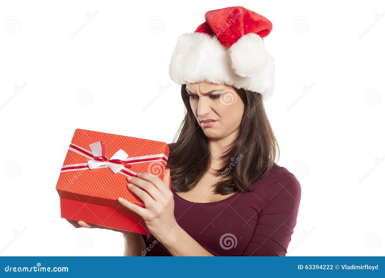 Cadeau non désiré de Noël photo stock. Image du fixation   63394222